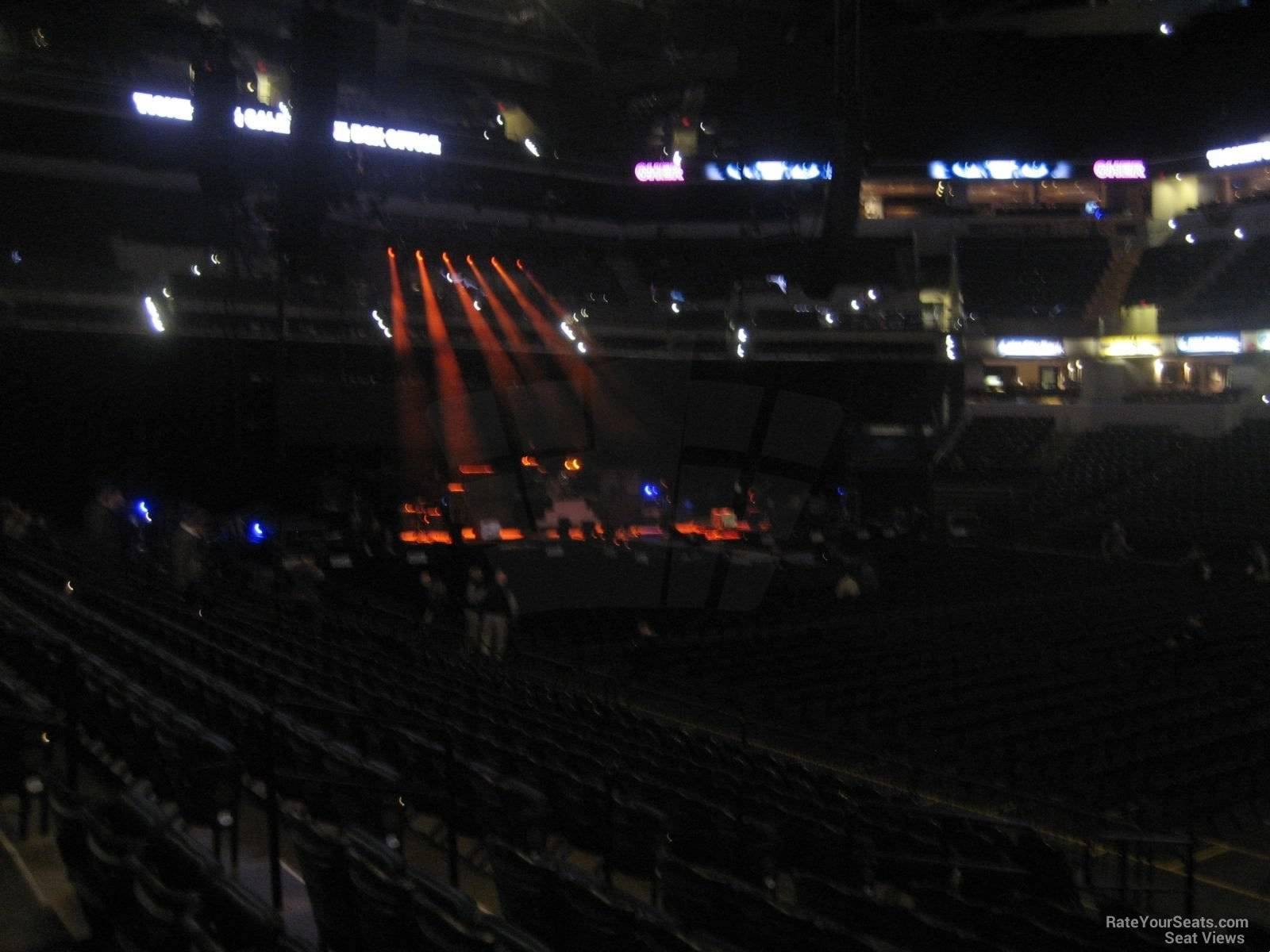 Concert Seat View for Bankers Life Fieldhouse Section 15, Row 16