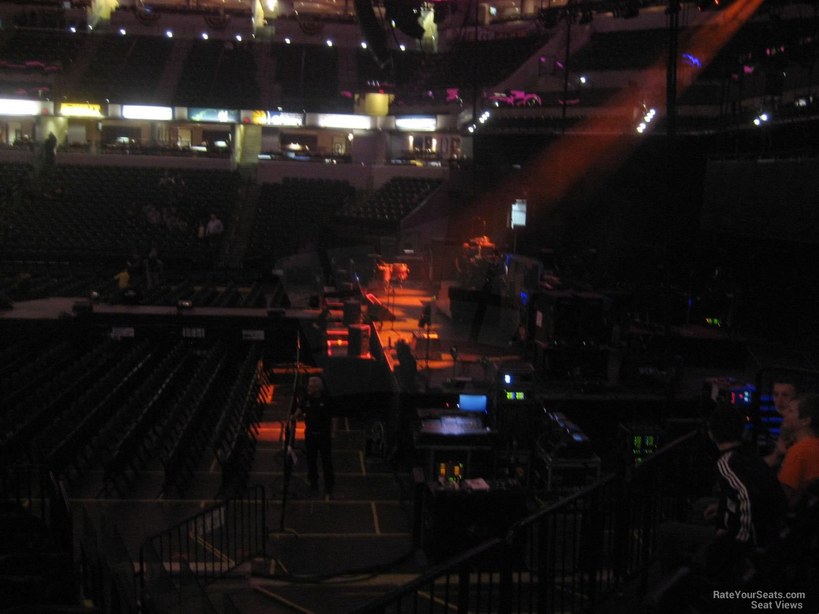 Concert Seat View for Bankers Life Fieldhouse Section 3, Row 16