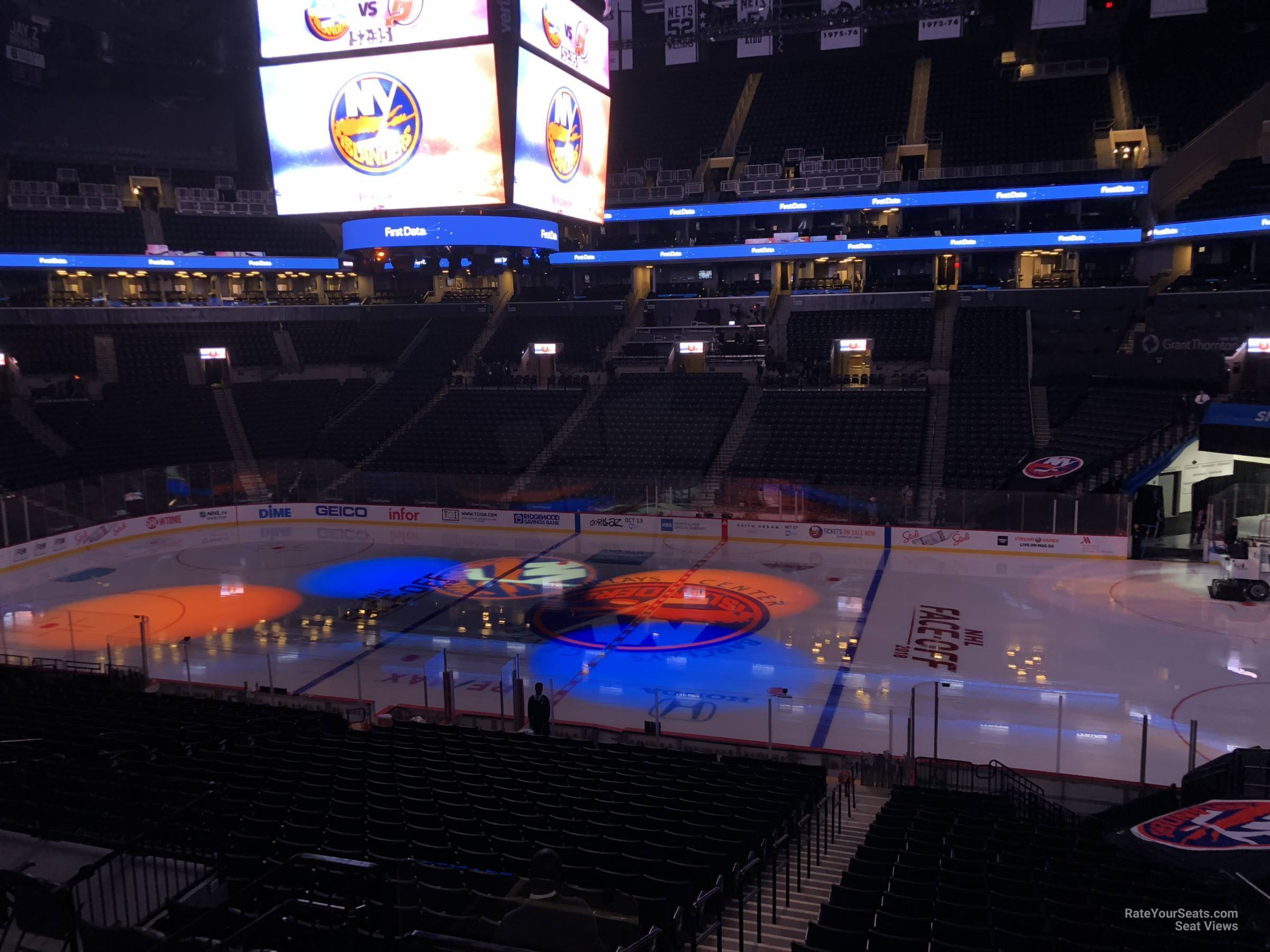 barclays center section 106 - new york islanders - rateyourseats