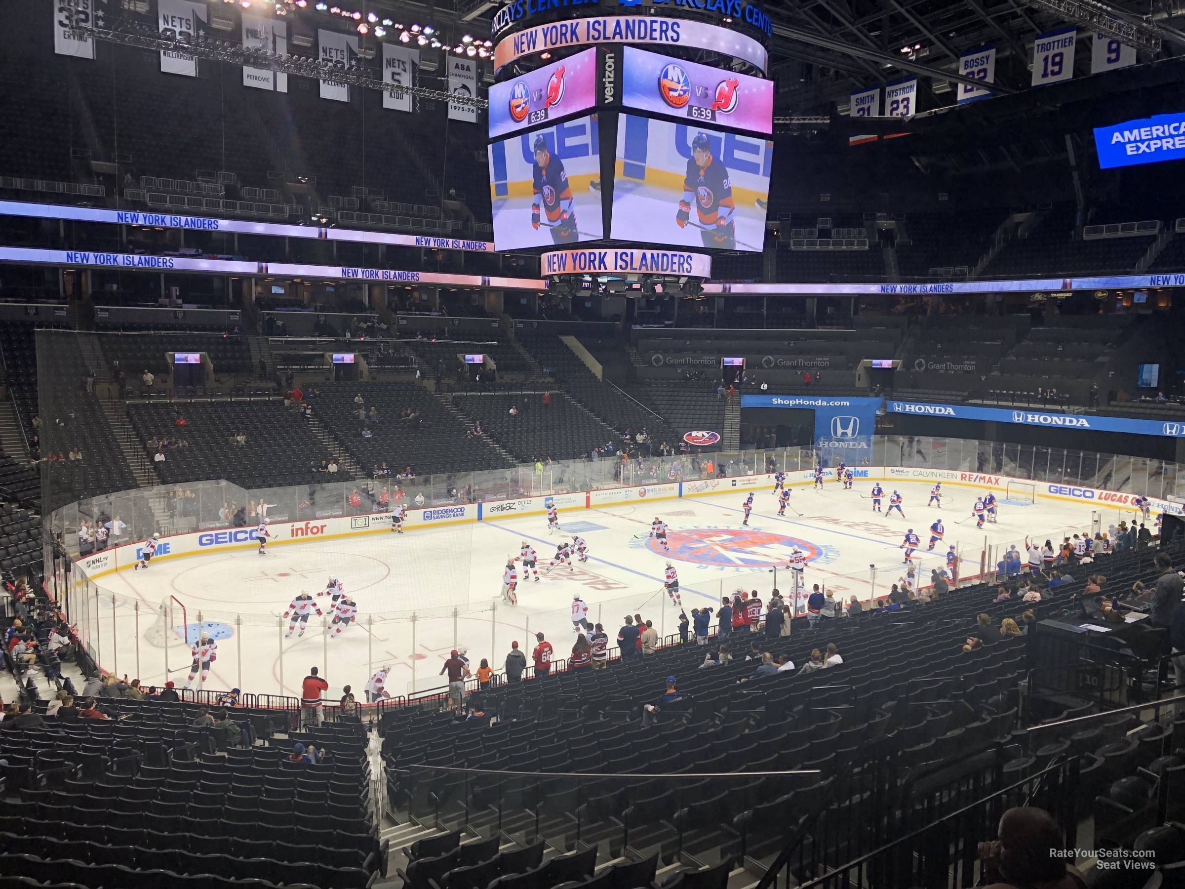 New York Islanders Seat View for Barclays Center Section 111, Row 7