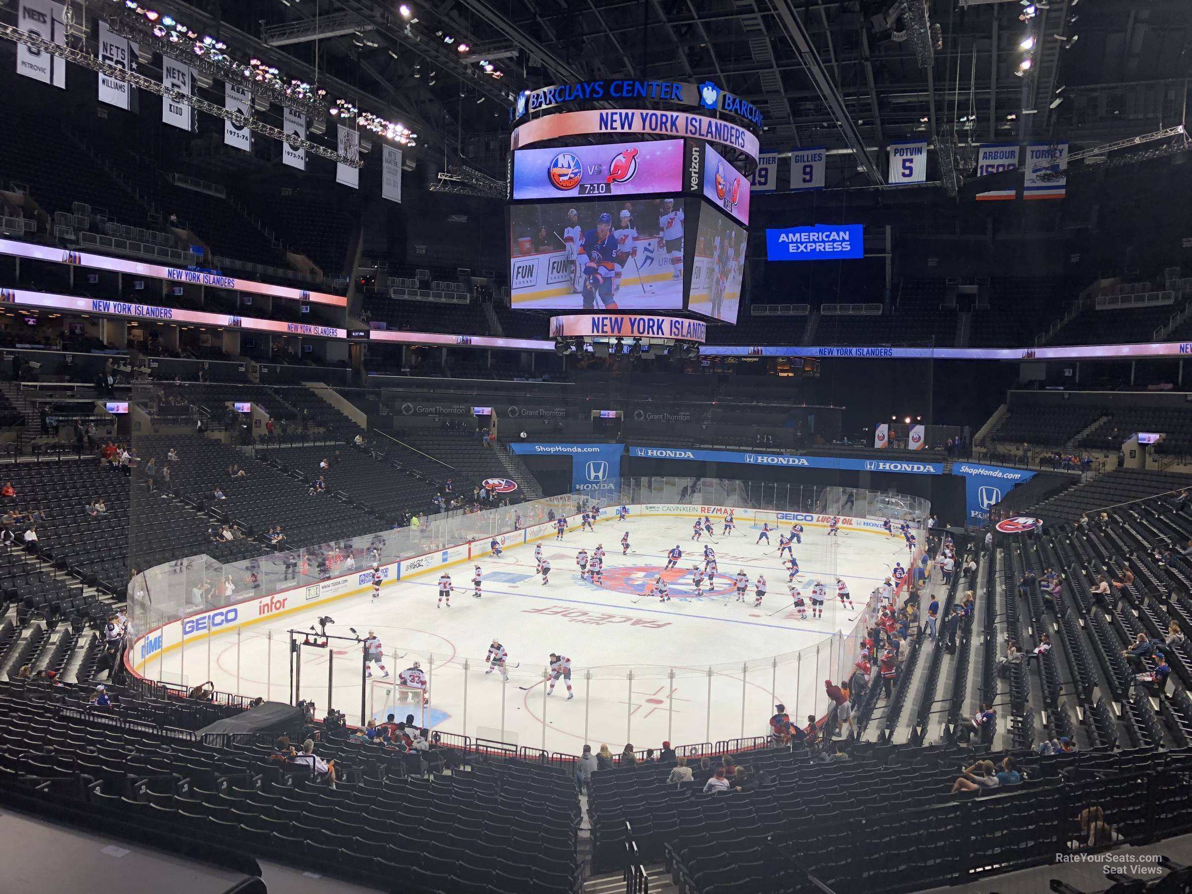 New York Islanders Seat View for Barclays Center Section 114, Row 7