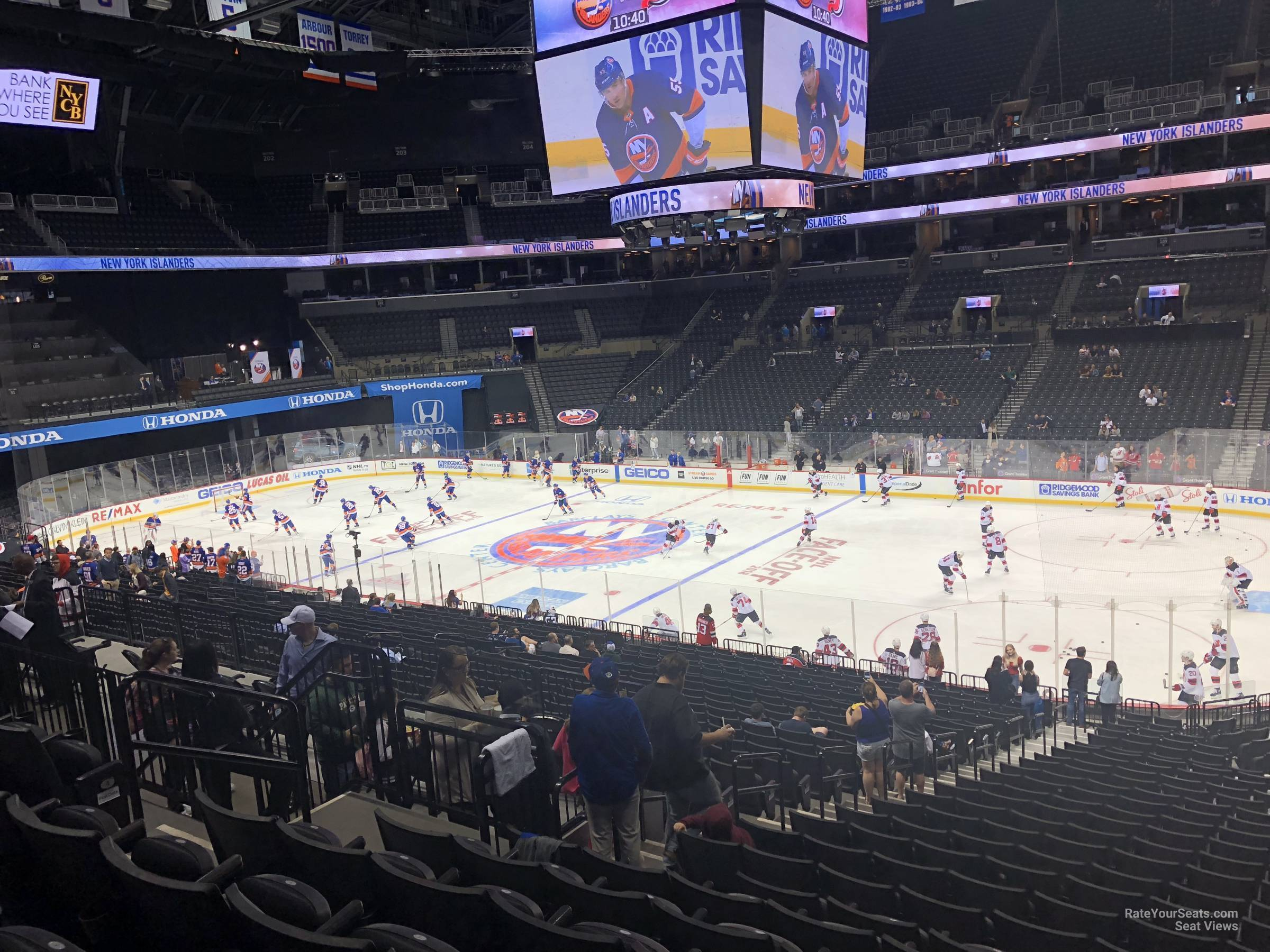 New York Islanders Seat View for Barclays Center Section 122, Row 7
