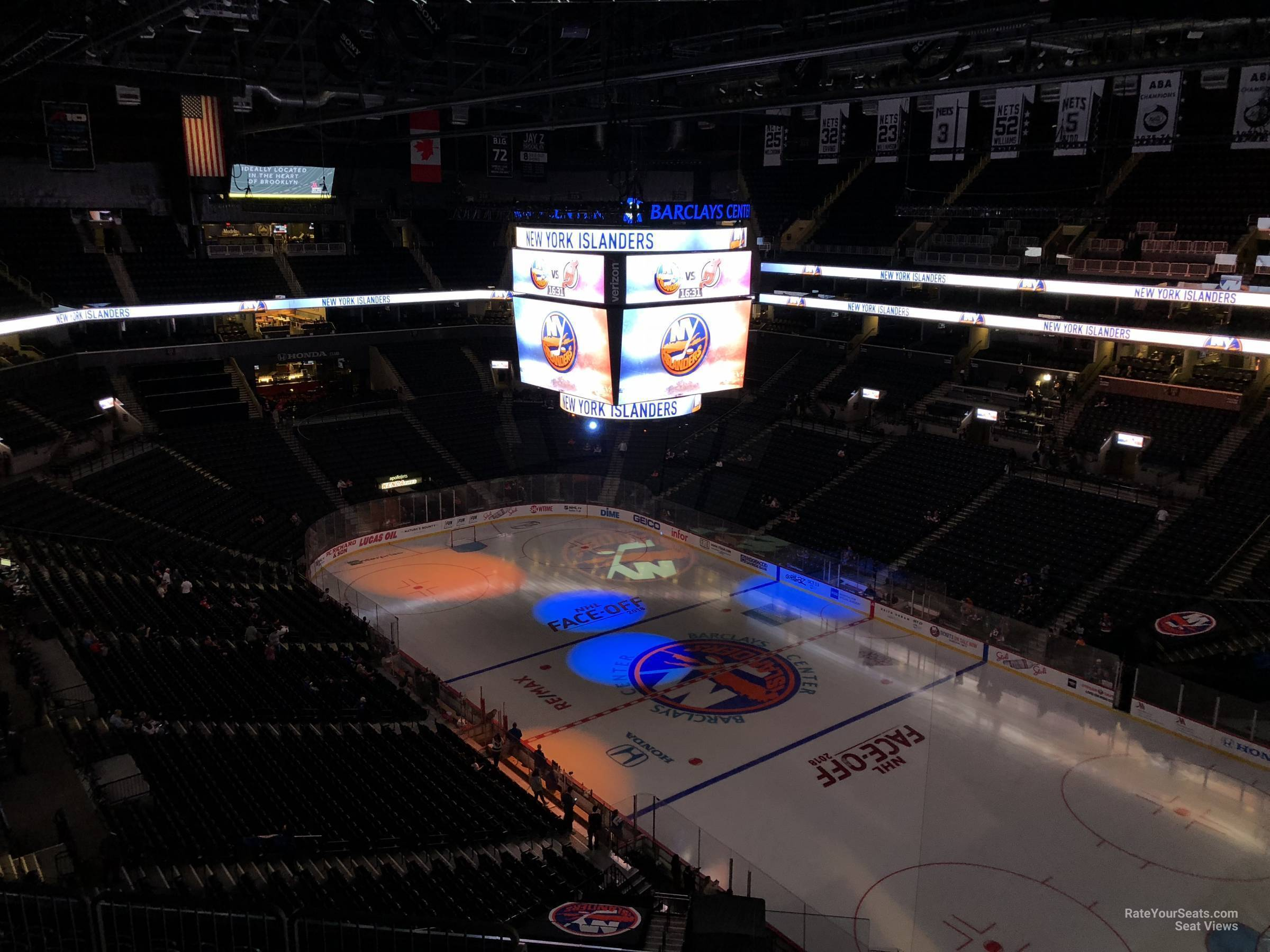 New York Islanders Seat View for Barclays Center Section 205, Row 11