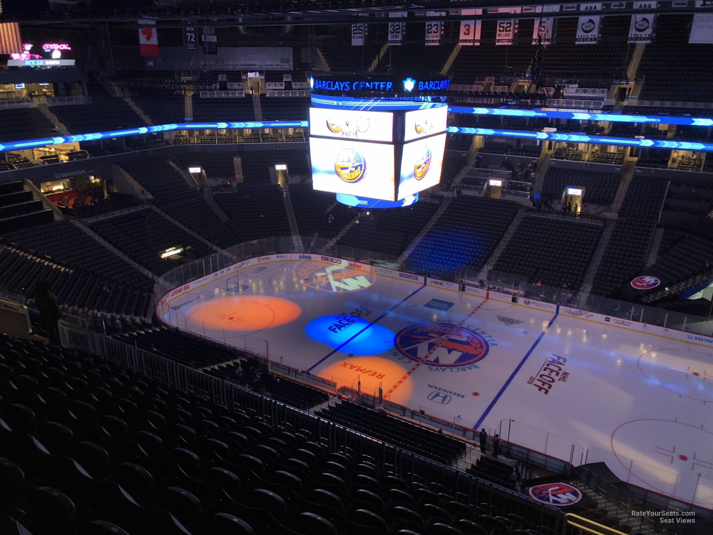 New York Islanders Seat View for Barclays Center Section 206, Row 11