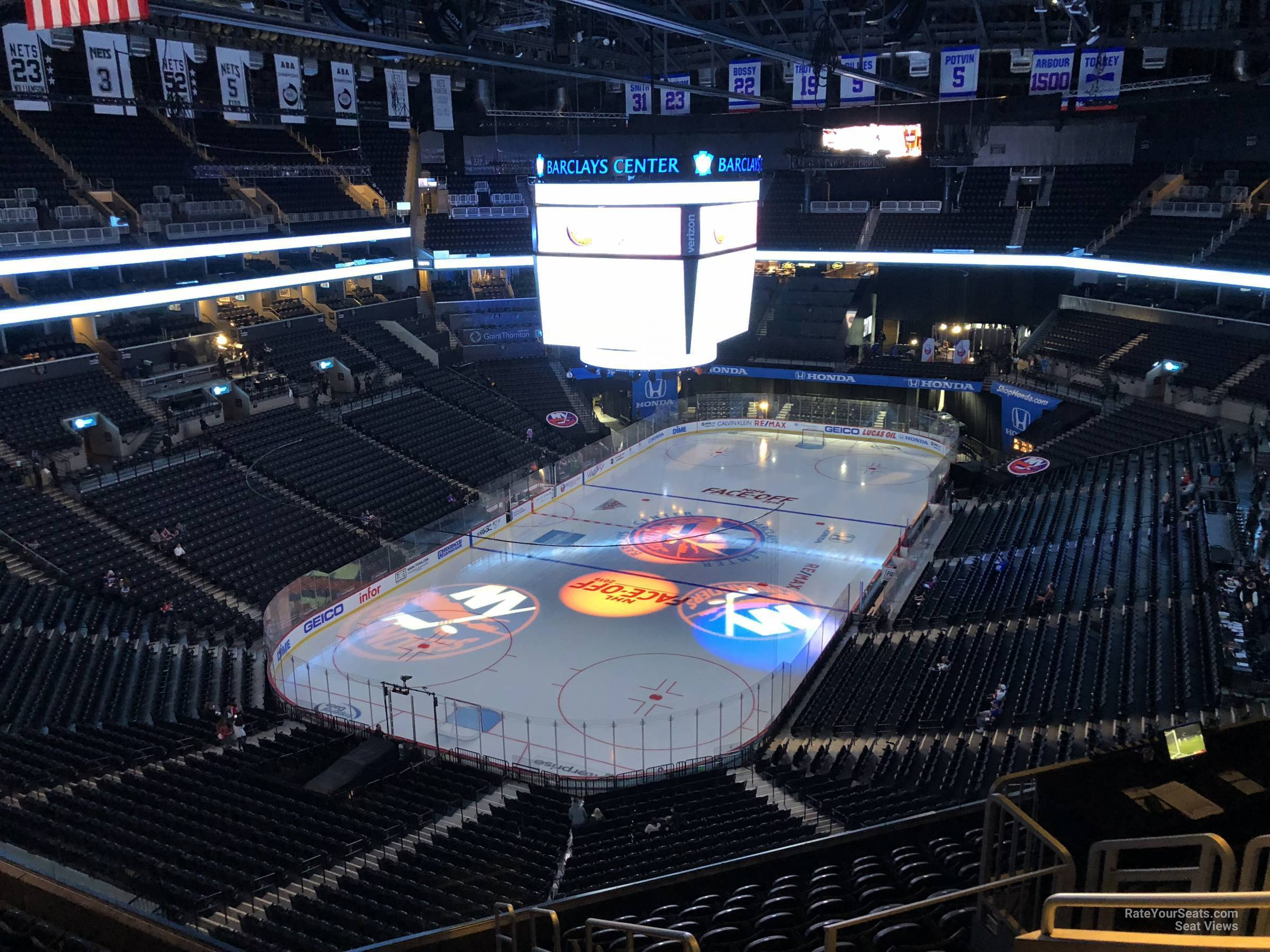 barclays center section 212 - new york islanders - rateyourseats