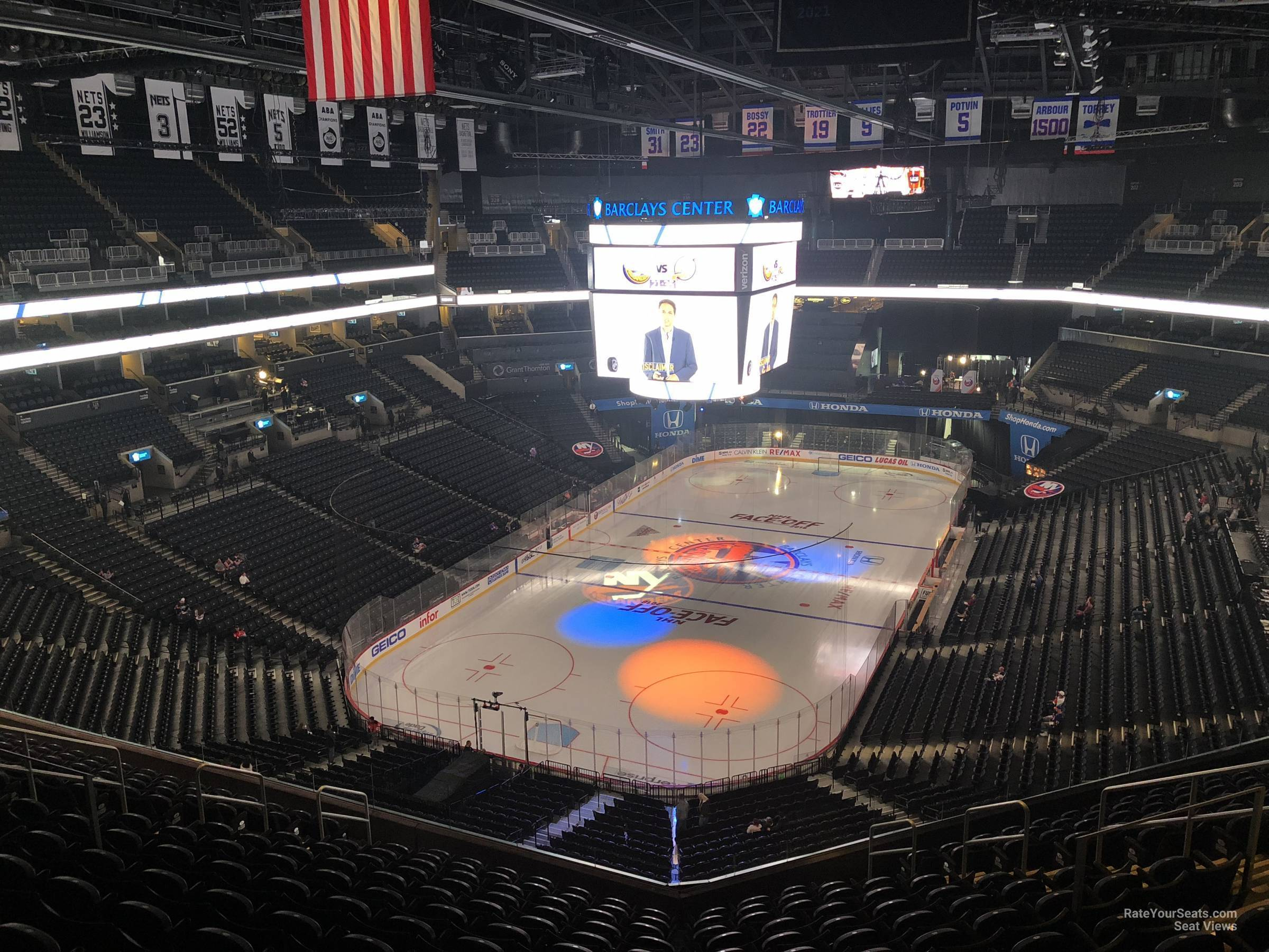New York Islanders Seat View for Barclays Center Section 214, Row 10