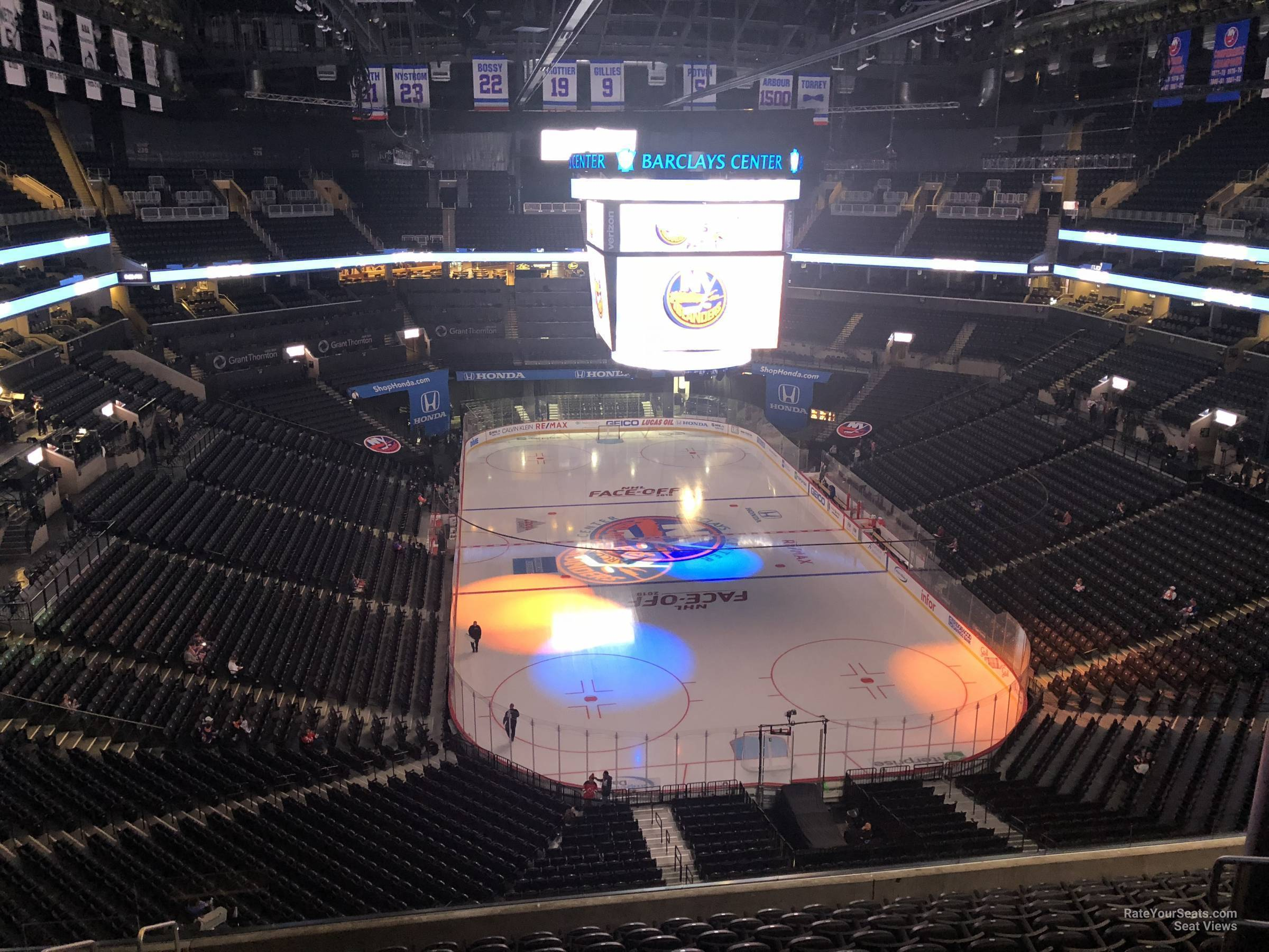 barclays center section 217 - new york islanders - rateyourseats