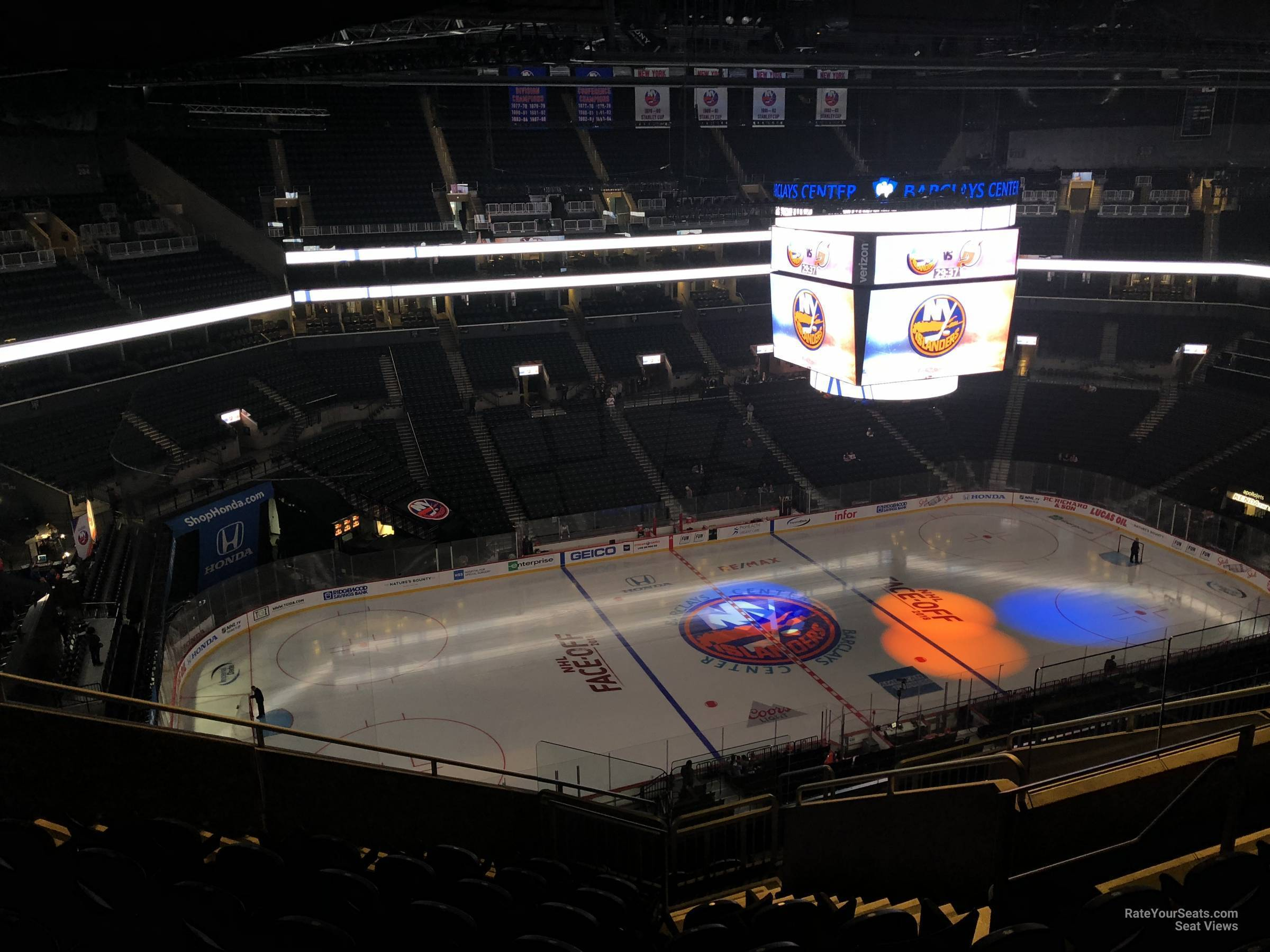 barclays center section 227 - new york islanders - rateyourseats
