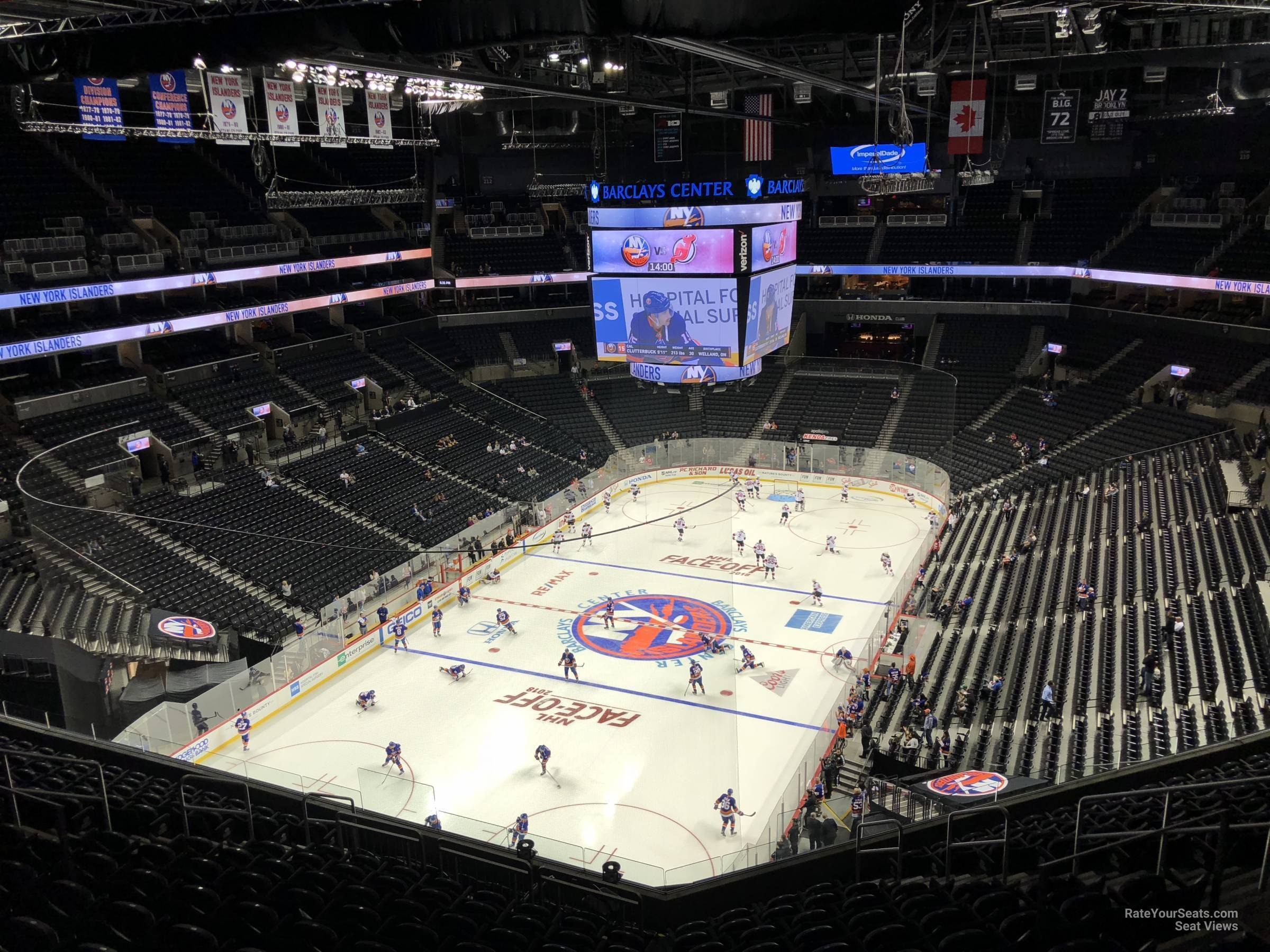 New York Islanders Seat View for Barclays Center Section 230, Row 13