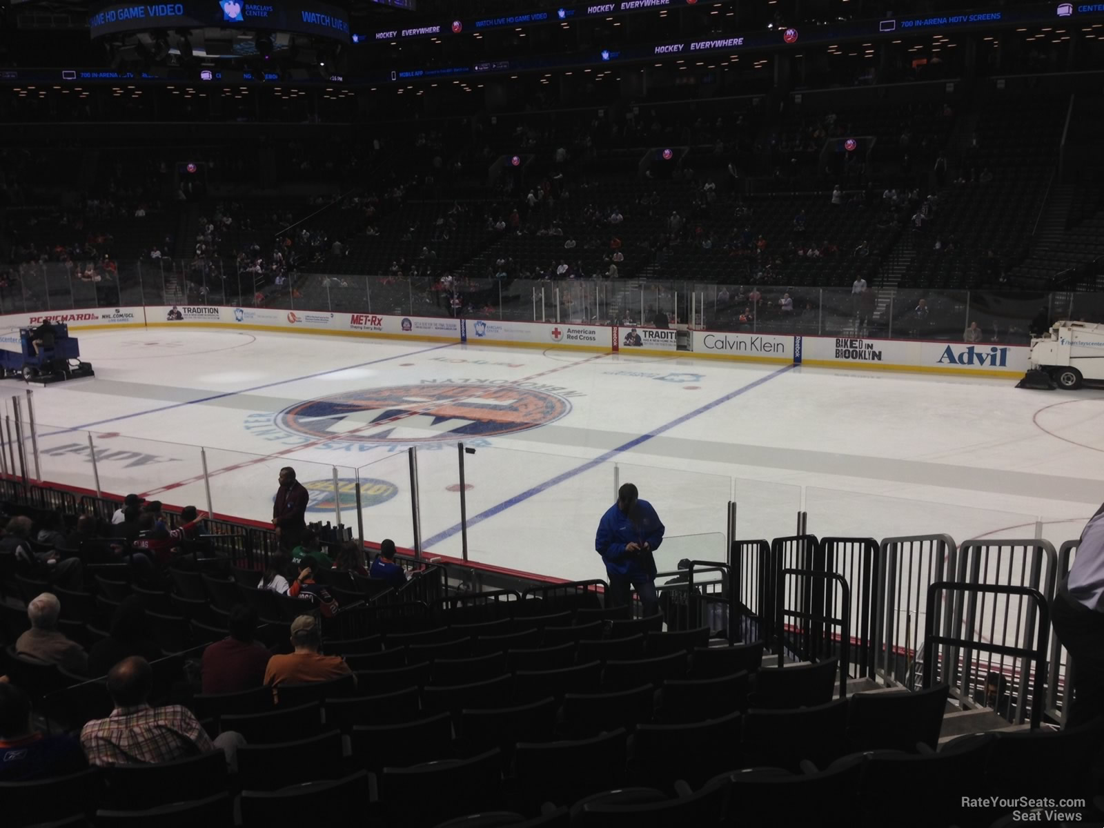 New York Islanders Seat View for Barclays Center Section 4, Row 17