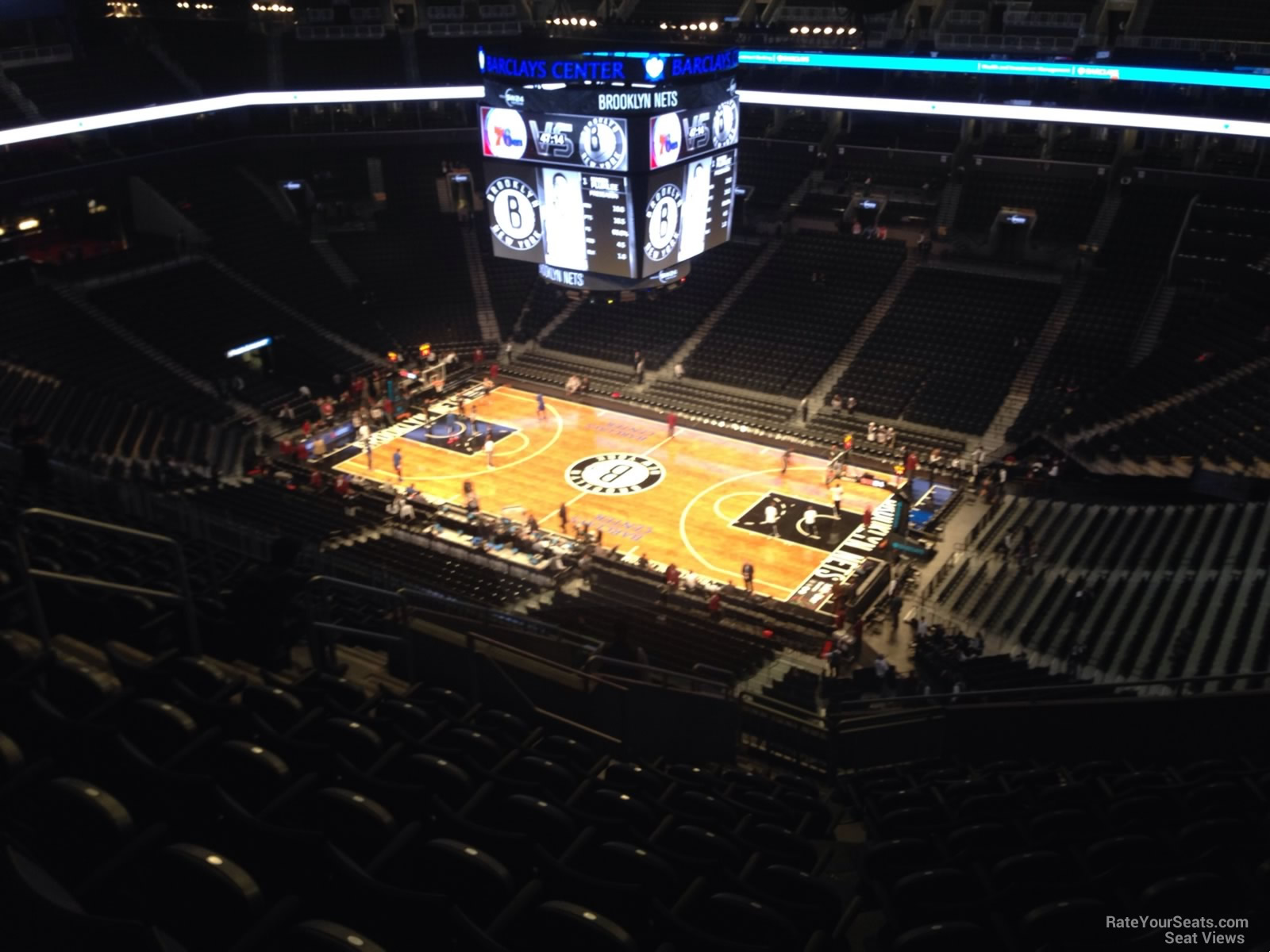 Brooklyn Nets Seat View for Barclays Center Section 205, Row 14