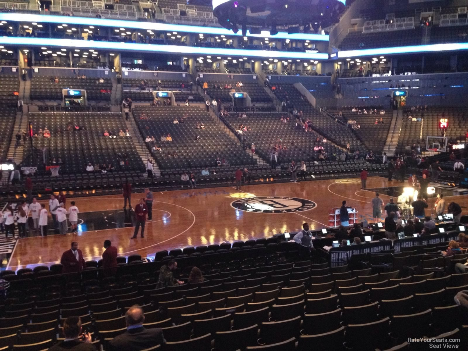 barclays center section 9 brooklyn nets rateyourseats com