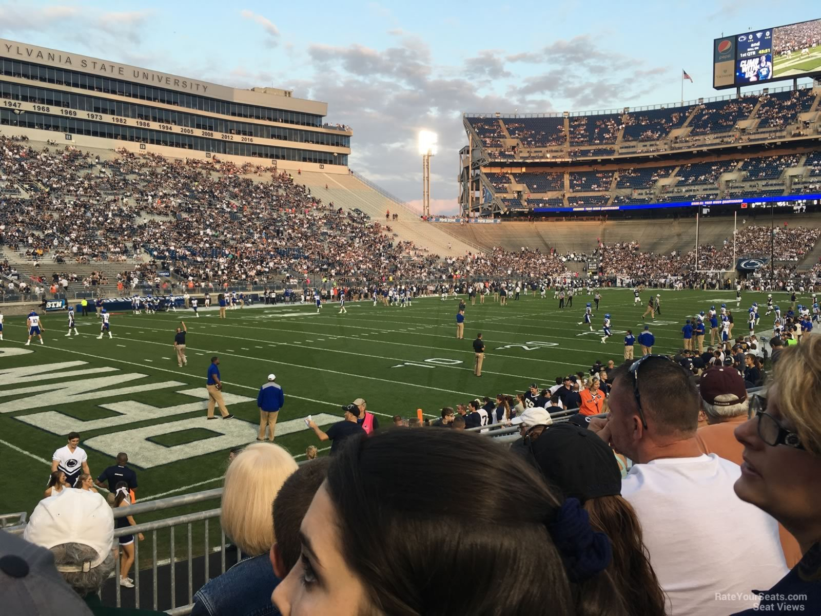 Seat View for Beaver Stadium Section NA, Row 15