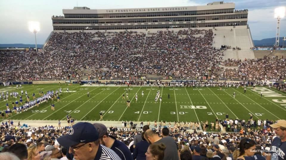 Seat View for Beaver Stadium Section WDU, Row 44
