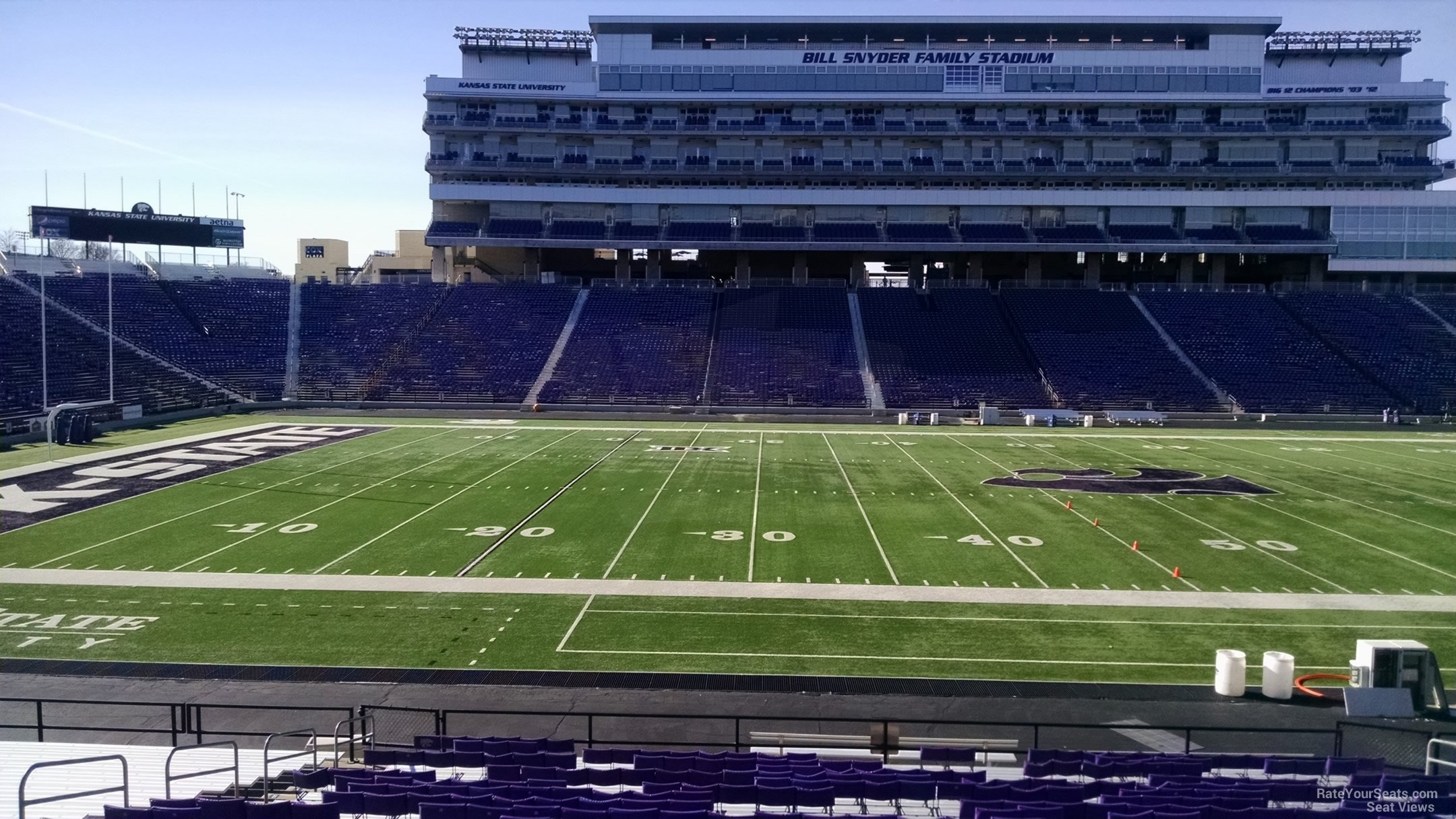 Seat View for Bill Snyder Family Stadium Section 23, Row 25