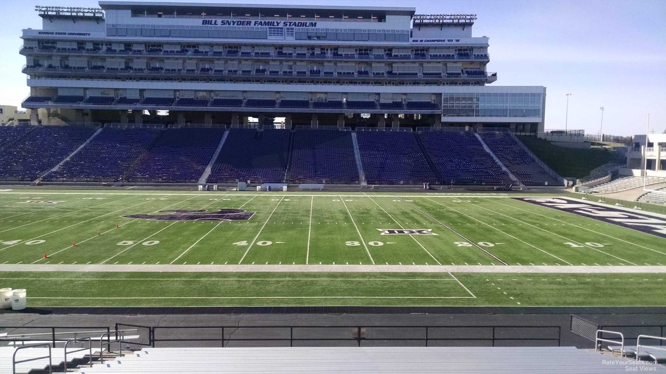 Seat View for Bill Snyder Family Stadium Section 25, Row 25