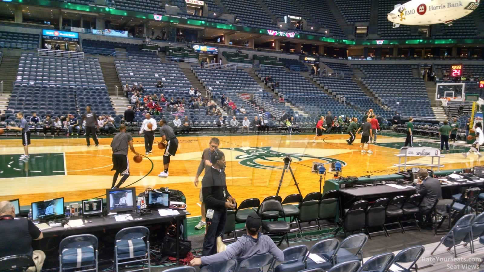 Seat View for Bradley Center Section 201, Row C