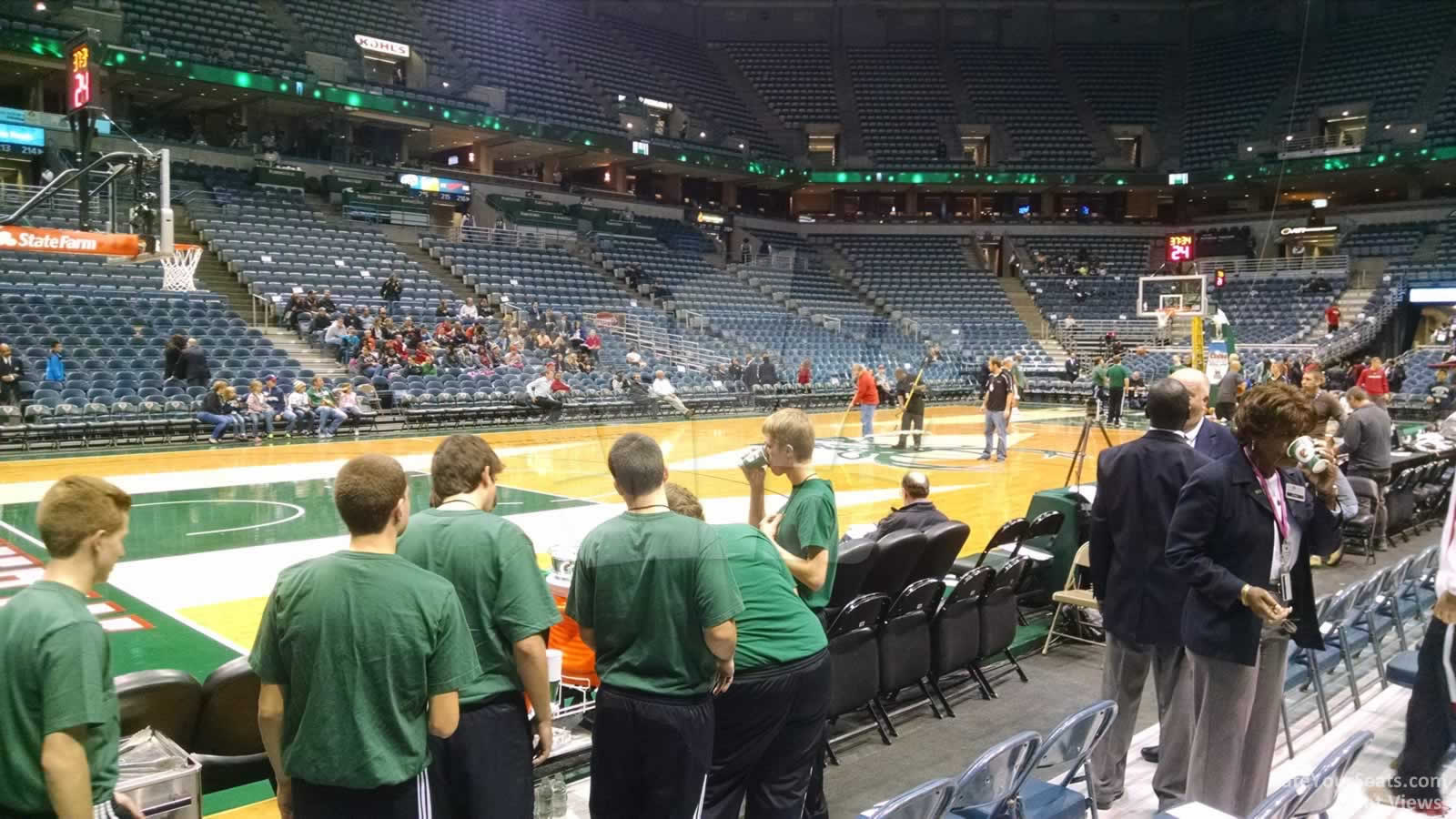 Seat View for Bradley Center Section 202, Row DDD