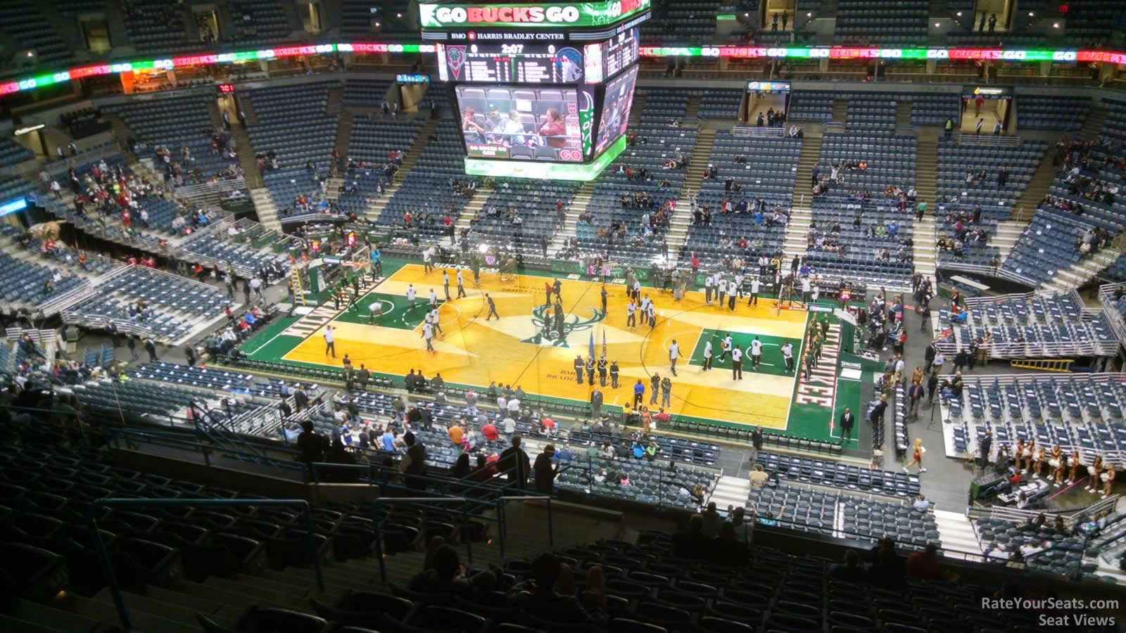 View from Section 420 Row T at the Bradley Center