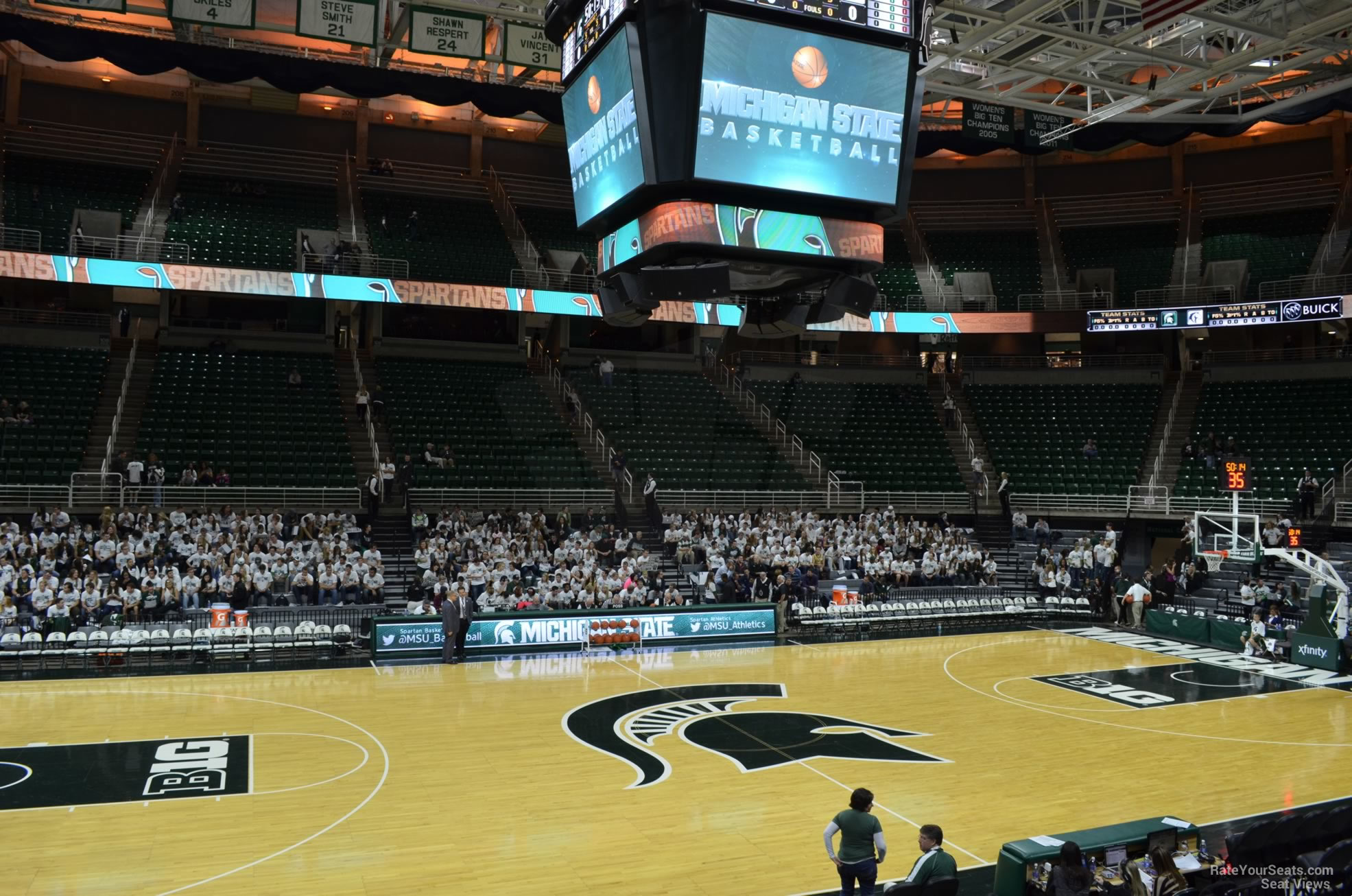 Seat View for Breslin Center Section 129, Row 13