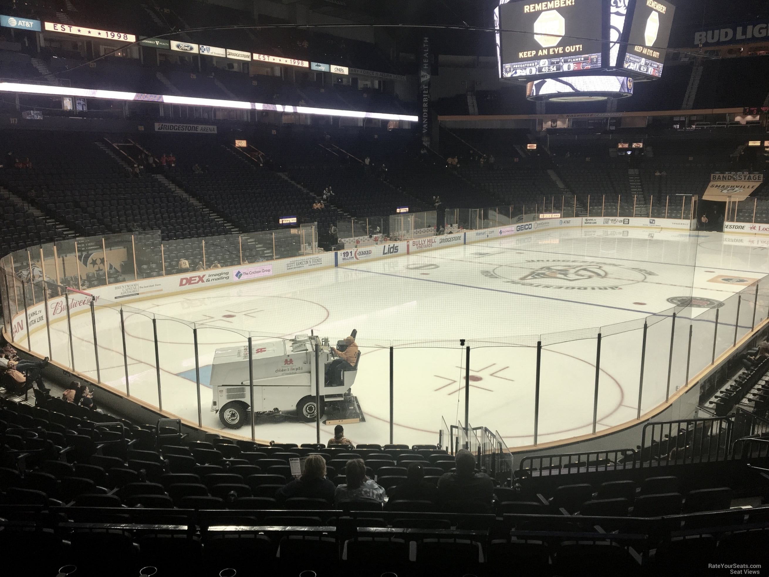Nashville Predators Seat View for Bridgestone Arena Section 102