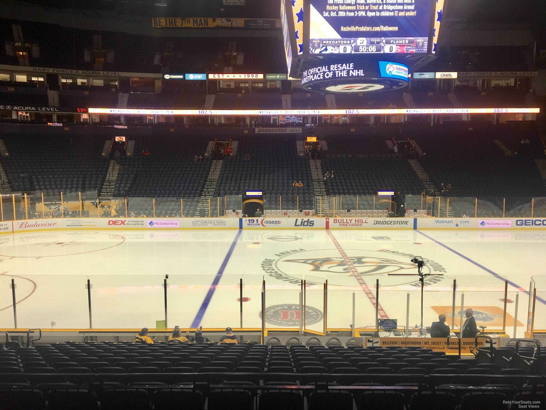 Bridgestone Arena Section 105 Nashville Predators