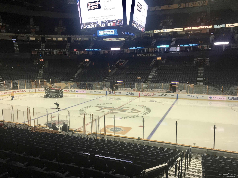 Bridgestone Arena Seating Chart By Row >> Bridgestone Arena Section 106 - Nashville Predators - RateYourSeats.com