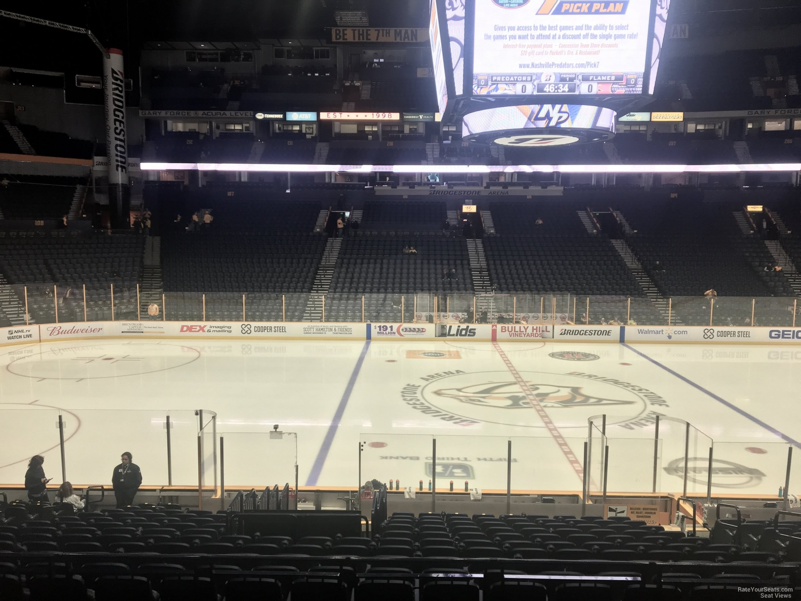 Nashville Predators Seat View for Bridgestone Arena Section 115