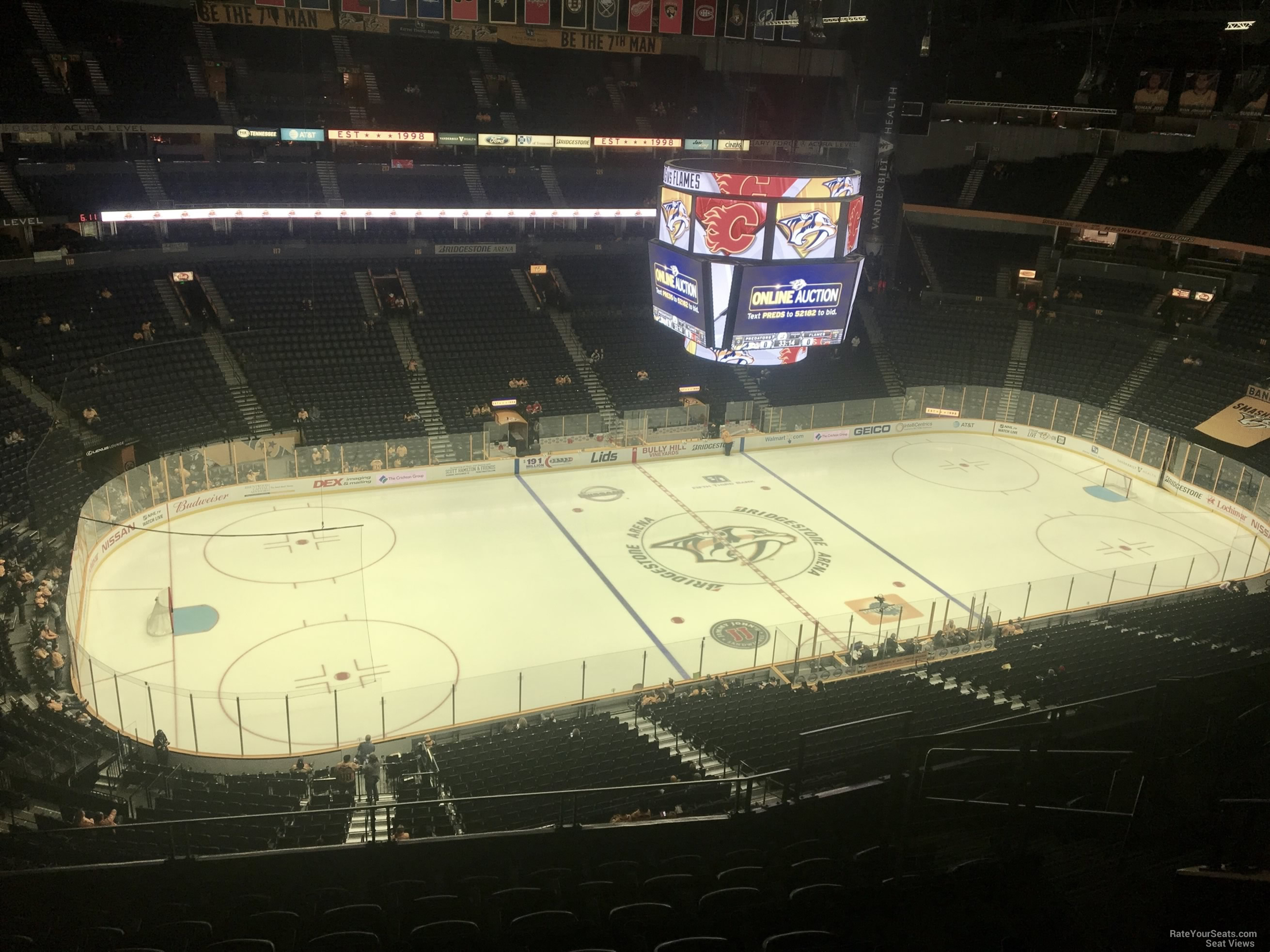 Nashville Predators Seat View for Bridgestone Arena Section 307, Row J