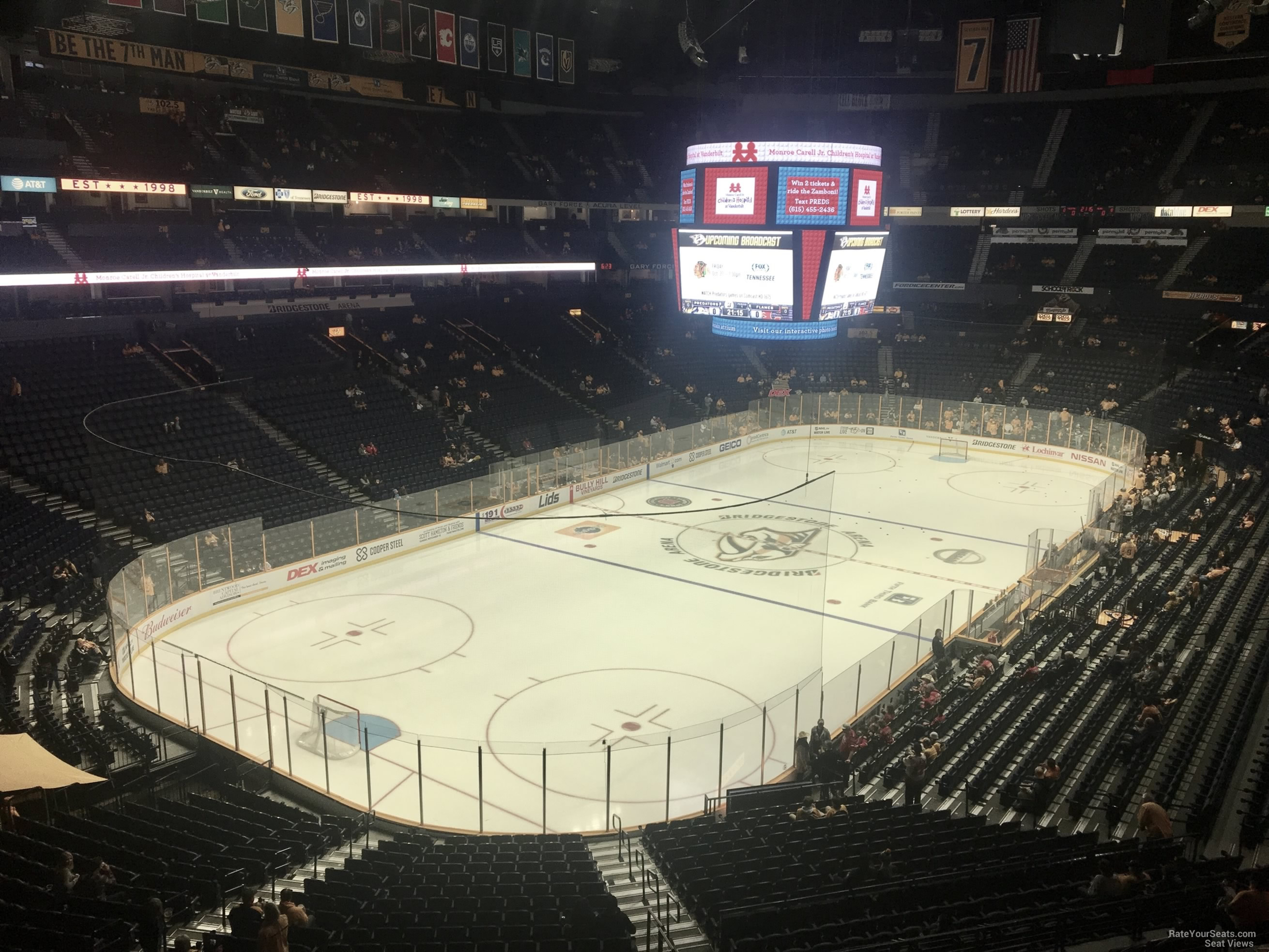 Nashville Predators Seat View for Bridgestone Arena Section 321