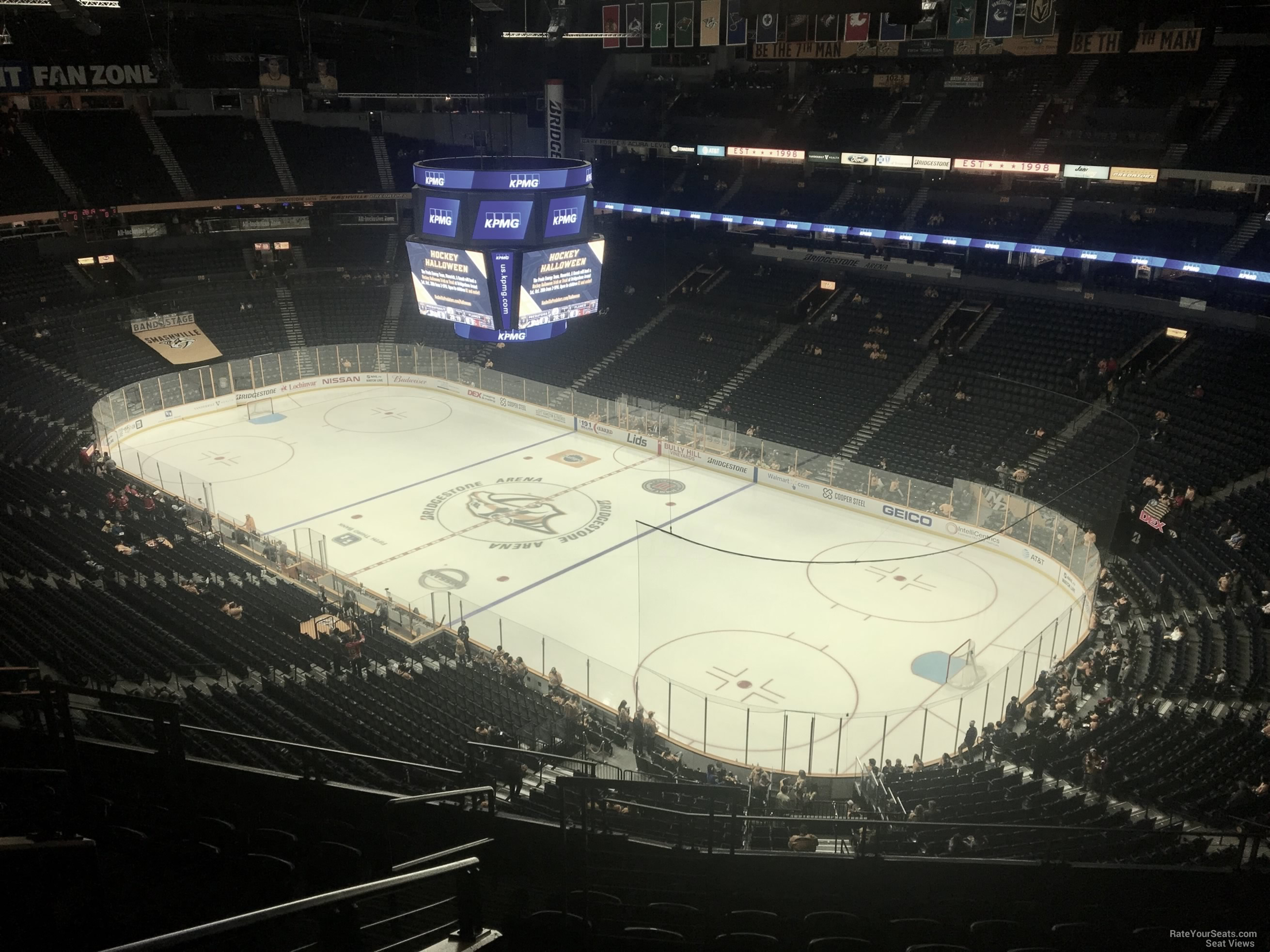Nashville Predators Seat View for Bridgestone Arena Section 330, Row J