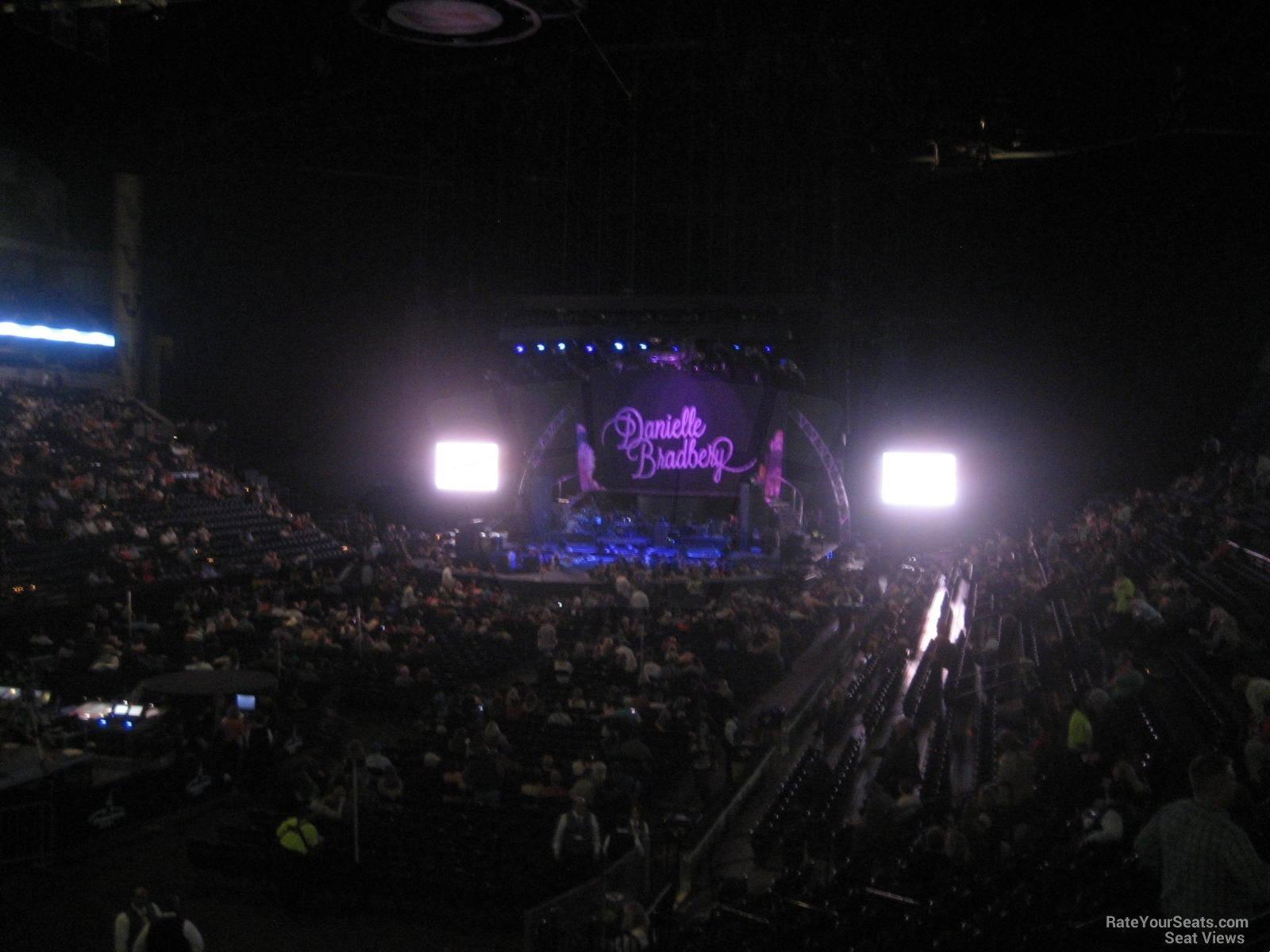 Concert Seat View for Bridgestone Arena Section 102