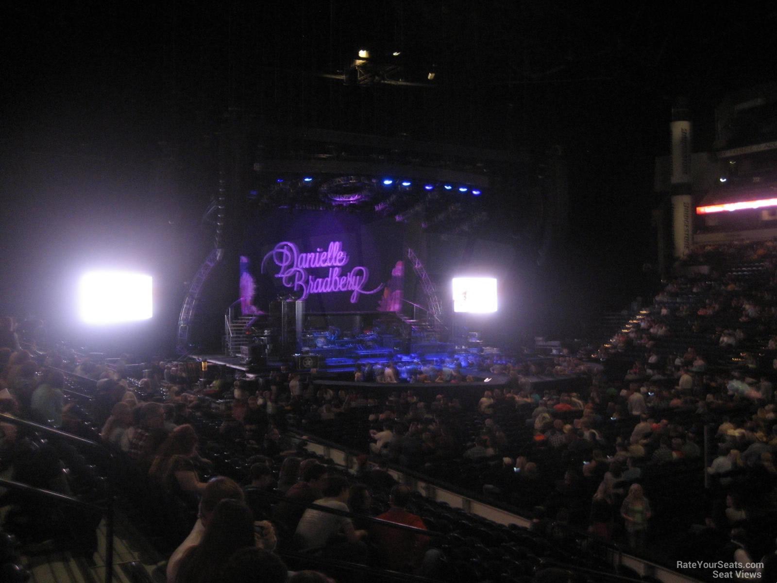 Bridgestone Arena Section 117 Concert Seating