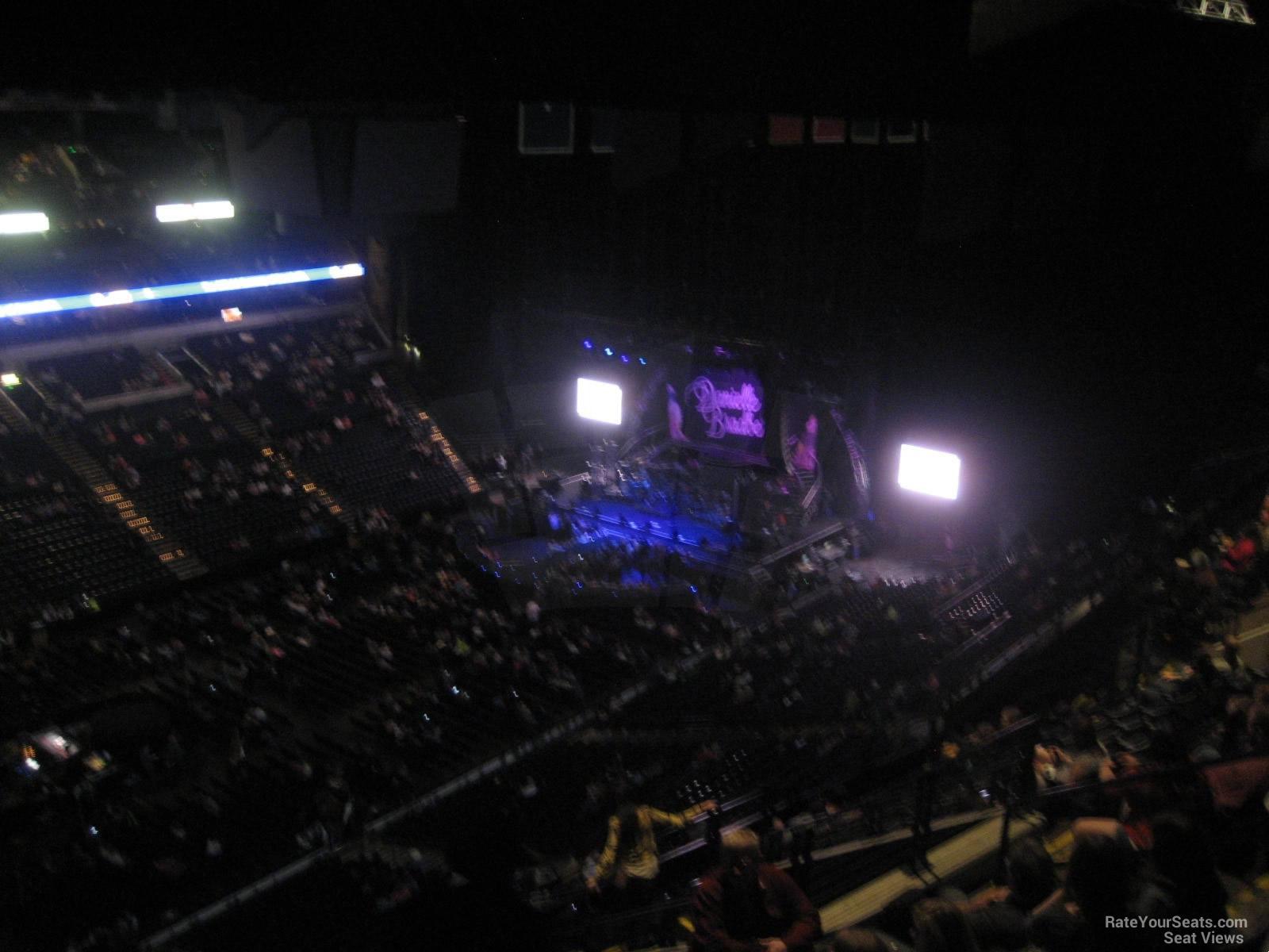 Concert Seat View for Bridgestone Arena Section 306 Row P