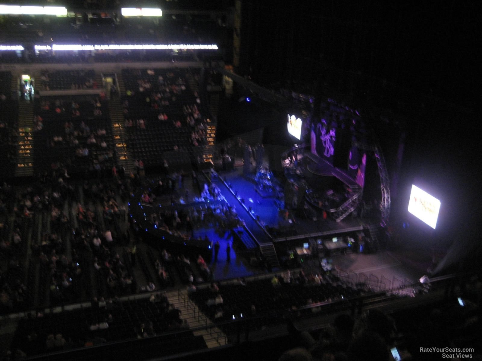 Concert Seat View for Bridgestone Arena Section 310, Row E