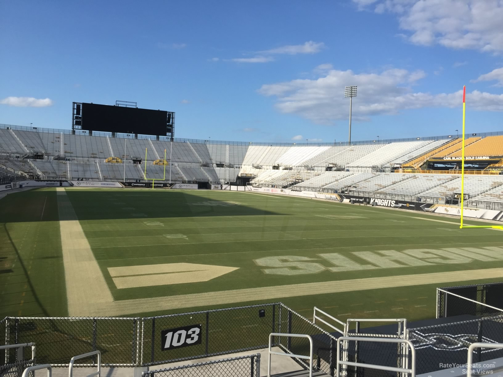 Seat View for Spectrum Stadium Section 103, Row 11