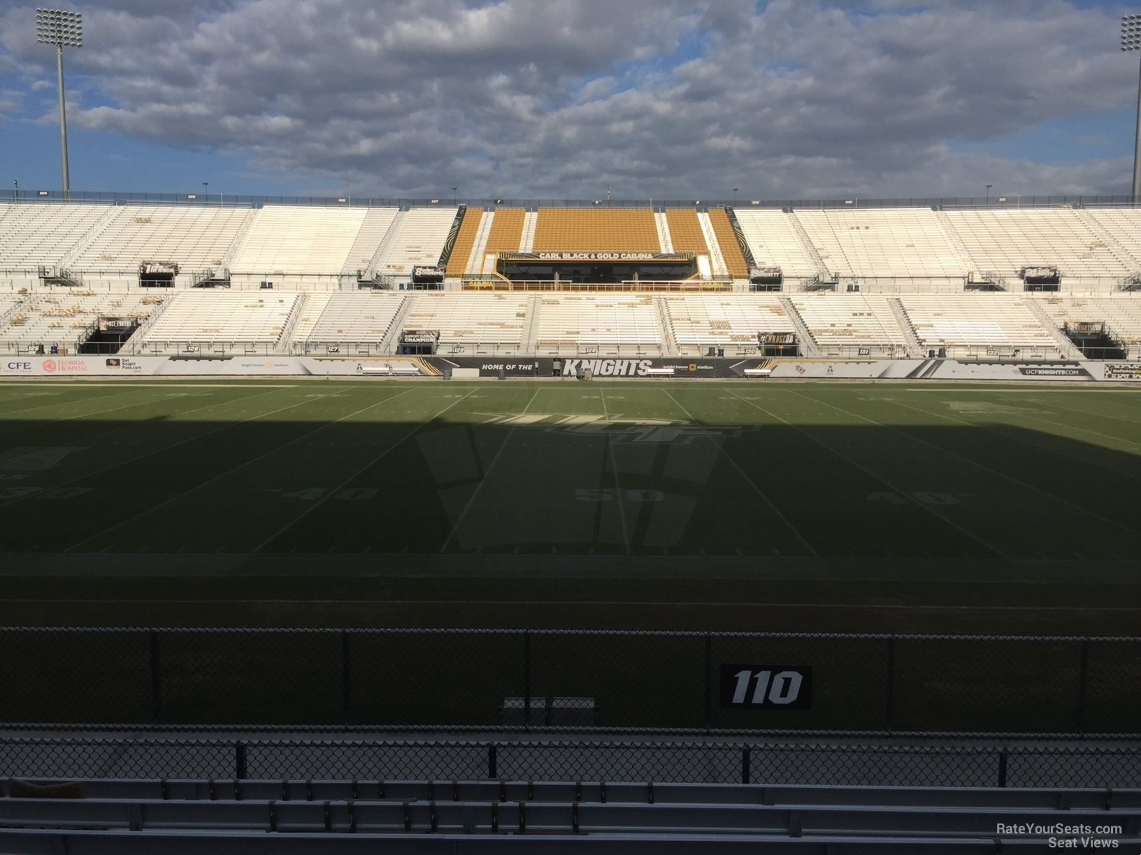 Seat View for Spectrum Stadium Section 110, Row 11
