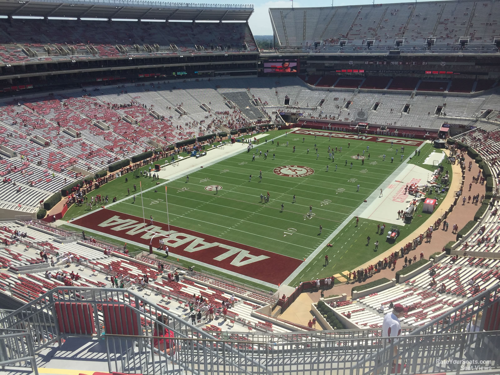 Seat View for Bryant Denny Stadium Section NN3 Row 10