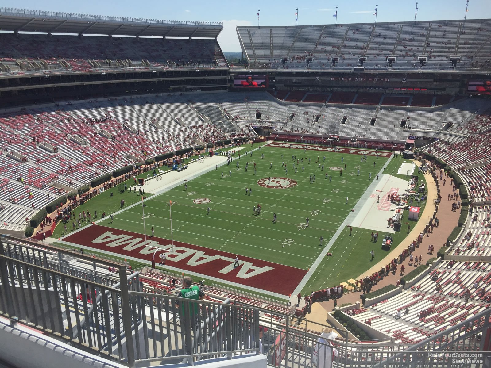 Seat View for Bryant Denny Stadium Section NN4 Row 10