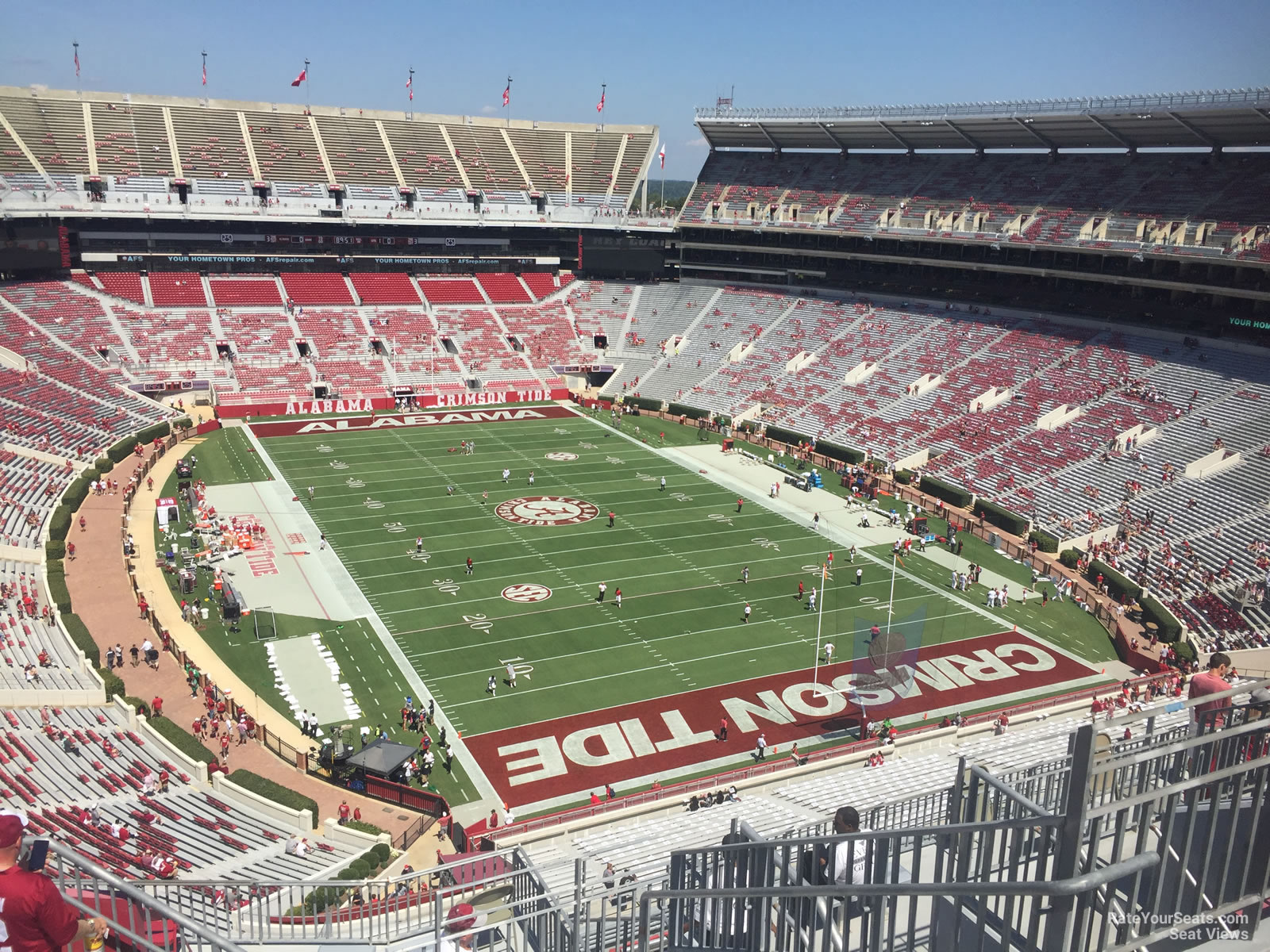Seat View For Bryant Denny Stadium Section Ss11 Row 10