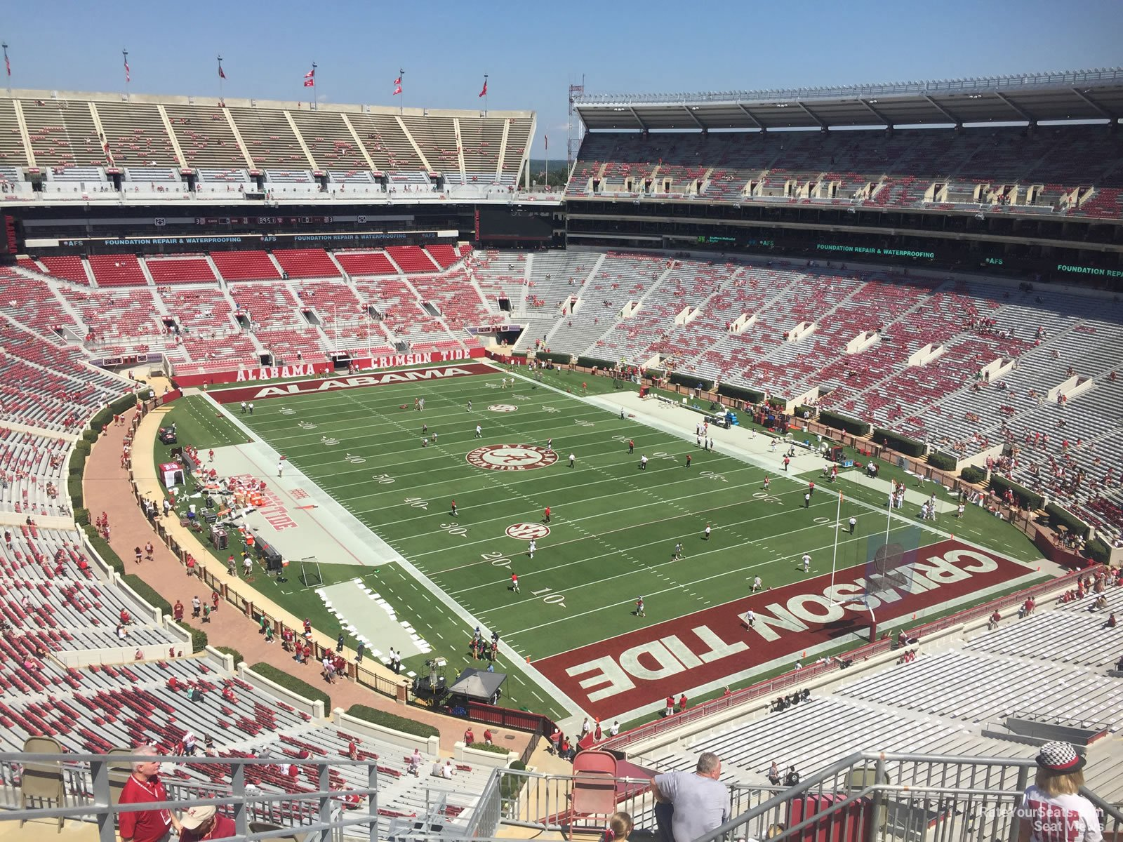 Seat View for Bryant Denny Stadium Section SS13 Row 10