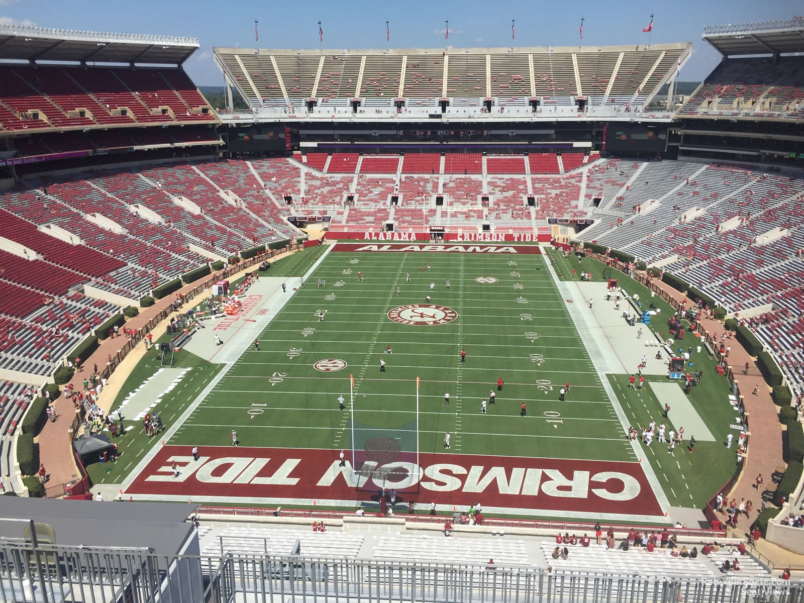 Seat View For Bryant Denny Stadium Section Ss7 Row 10