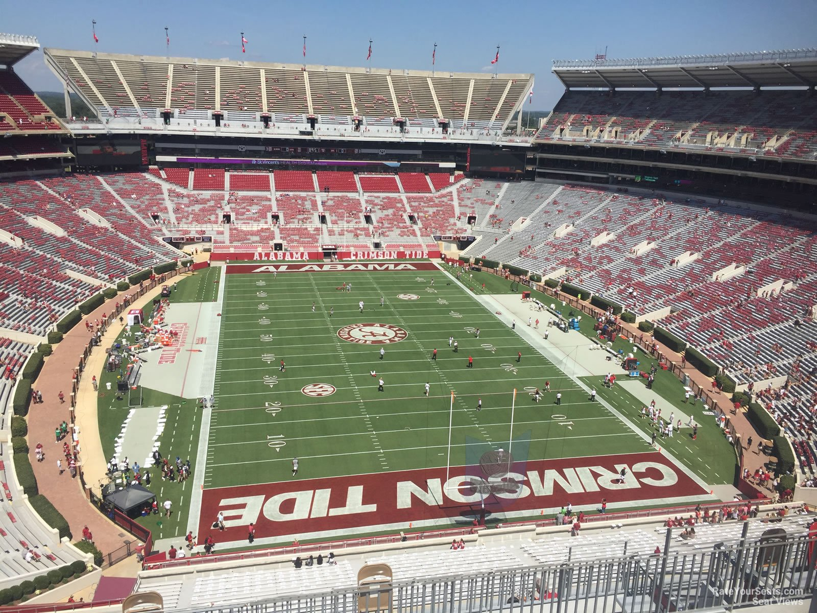 Seat View for Bryant Denny Stadium Section SS9 Row 10