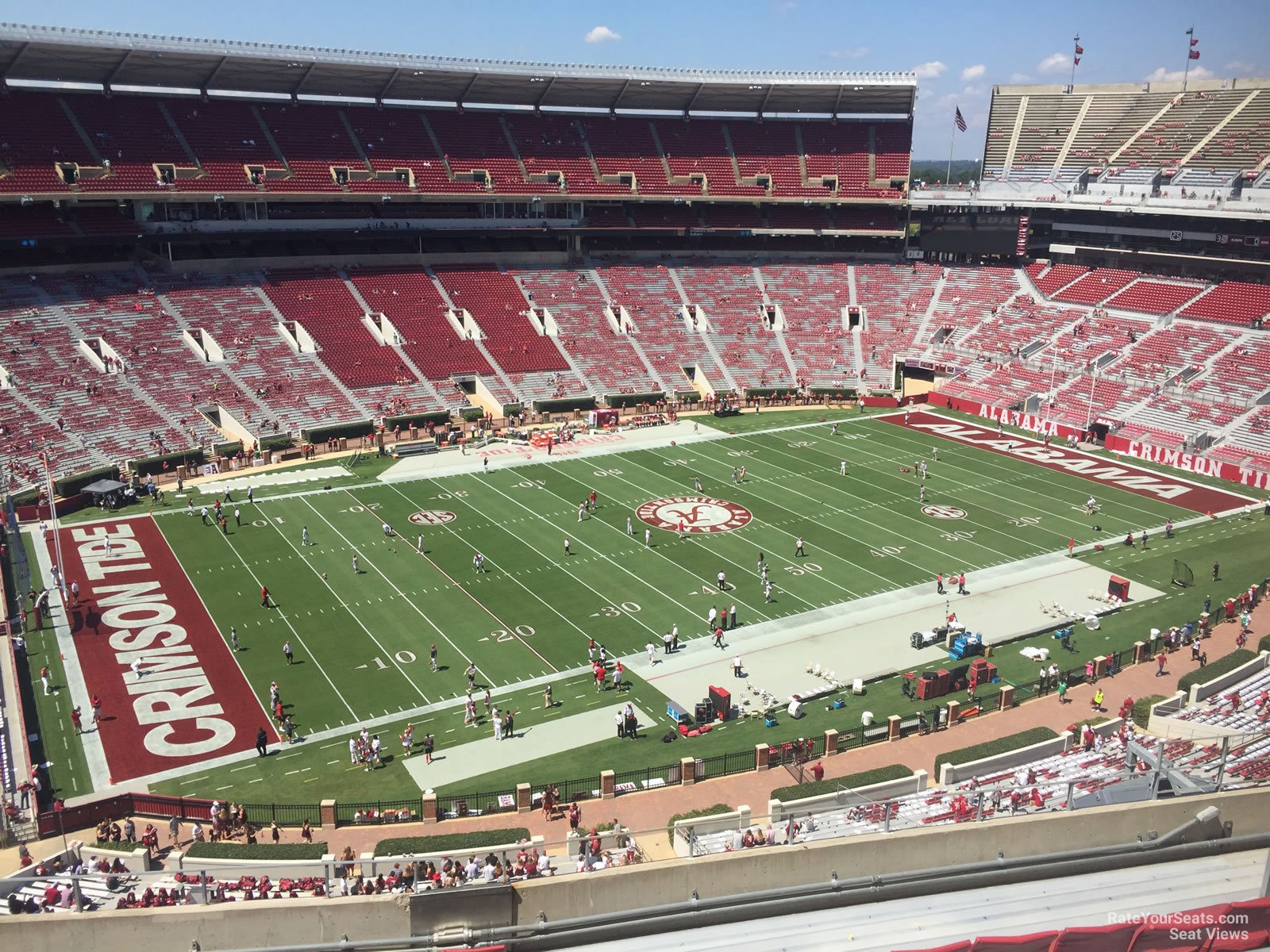 Seat View for Bryant Denny Stadium Section U4DD