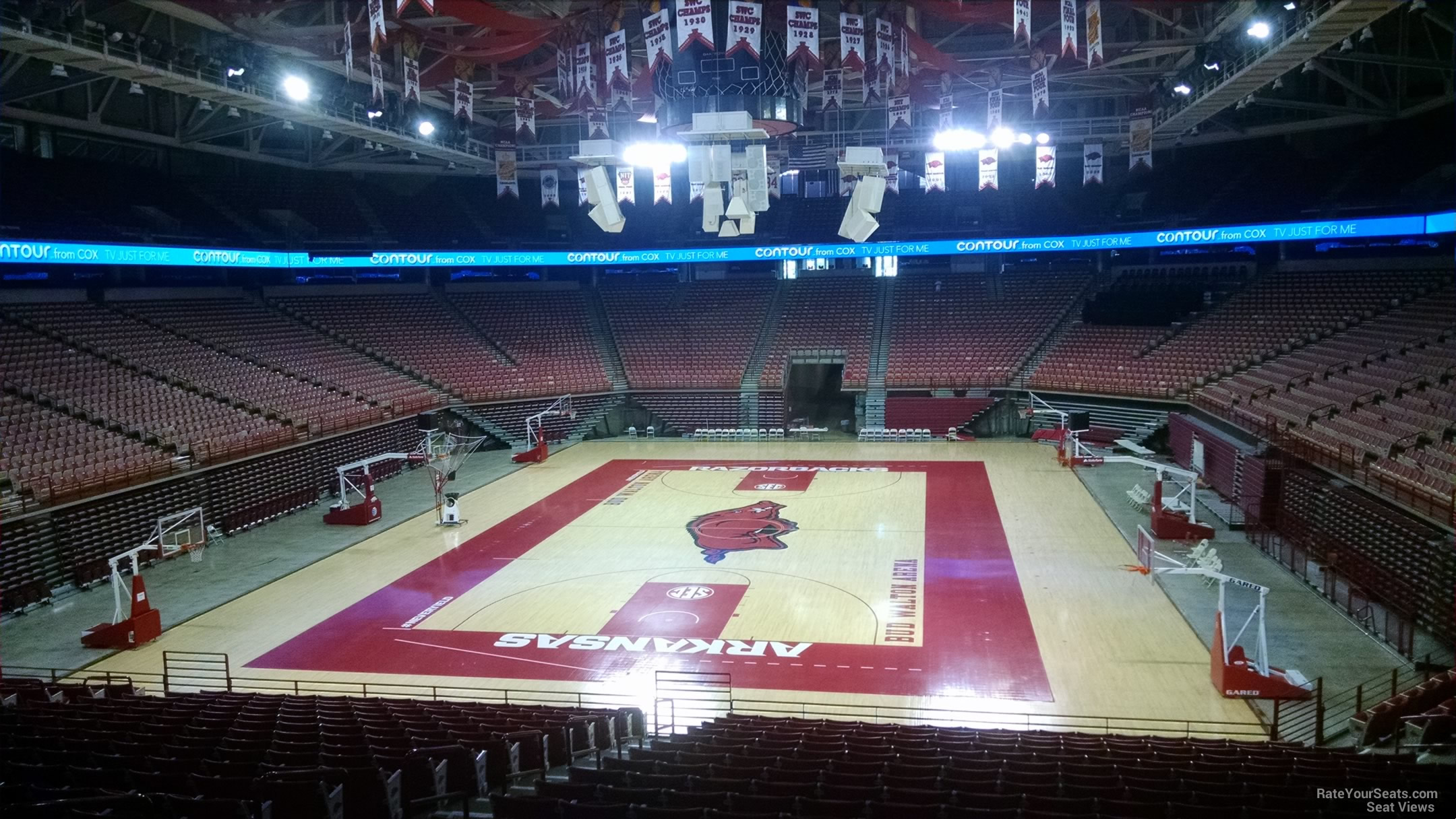 Seat View for Bud Walton Arena Section 108, Row 20