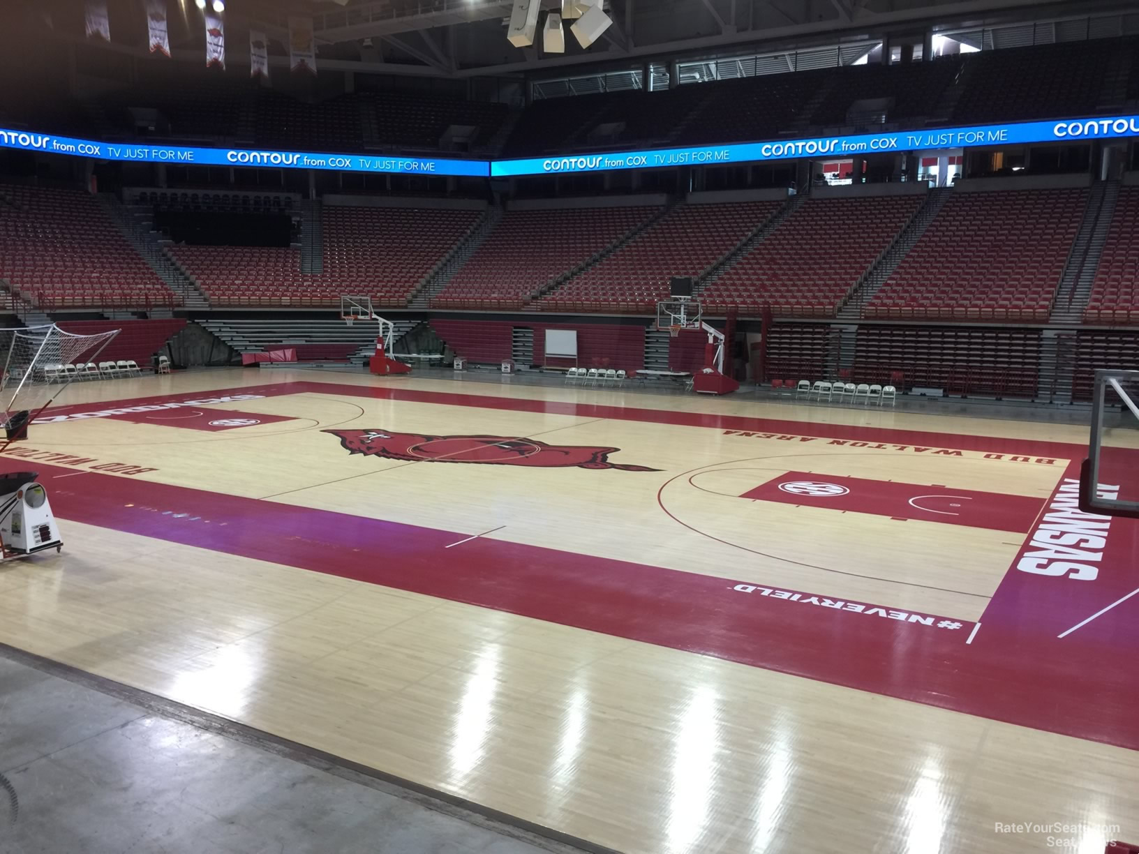 Seat View for Bud Walton Arena Section 115, Row 1