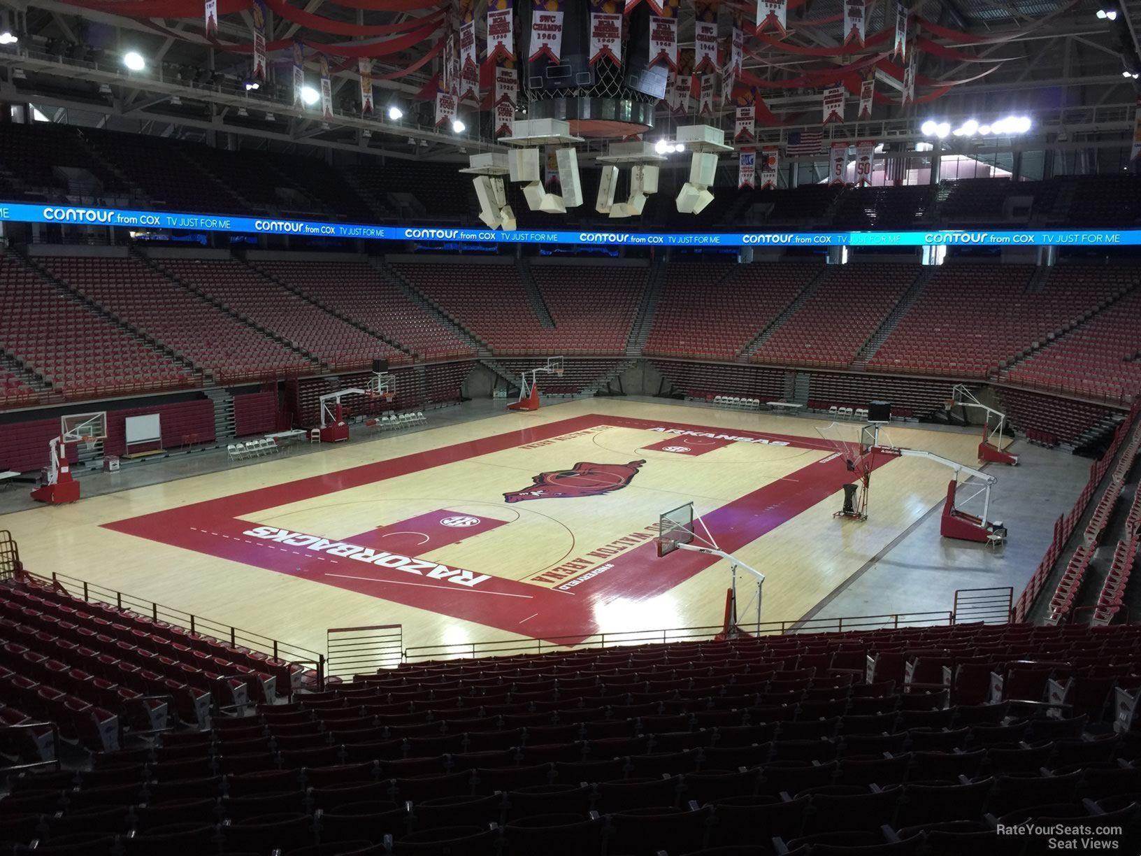 Seat View for Bud Walton Arena Section 123, Row 20