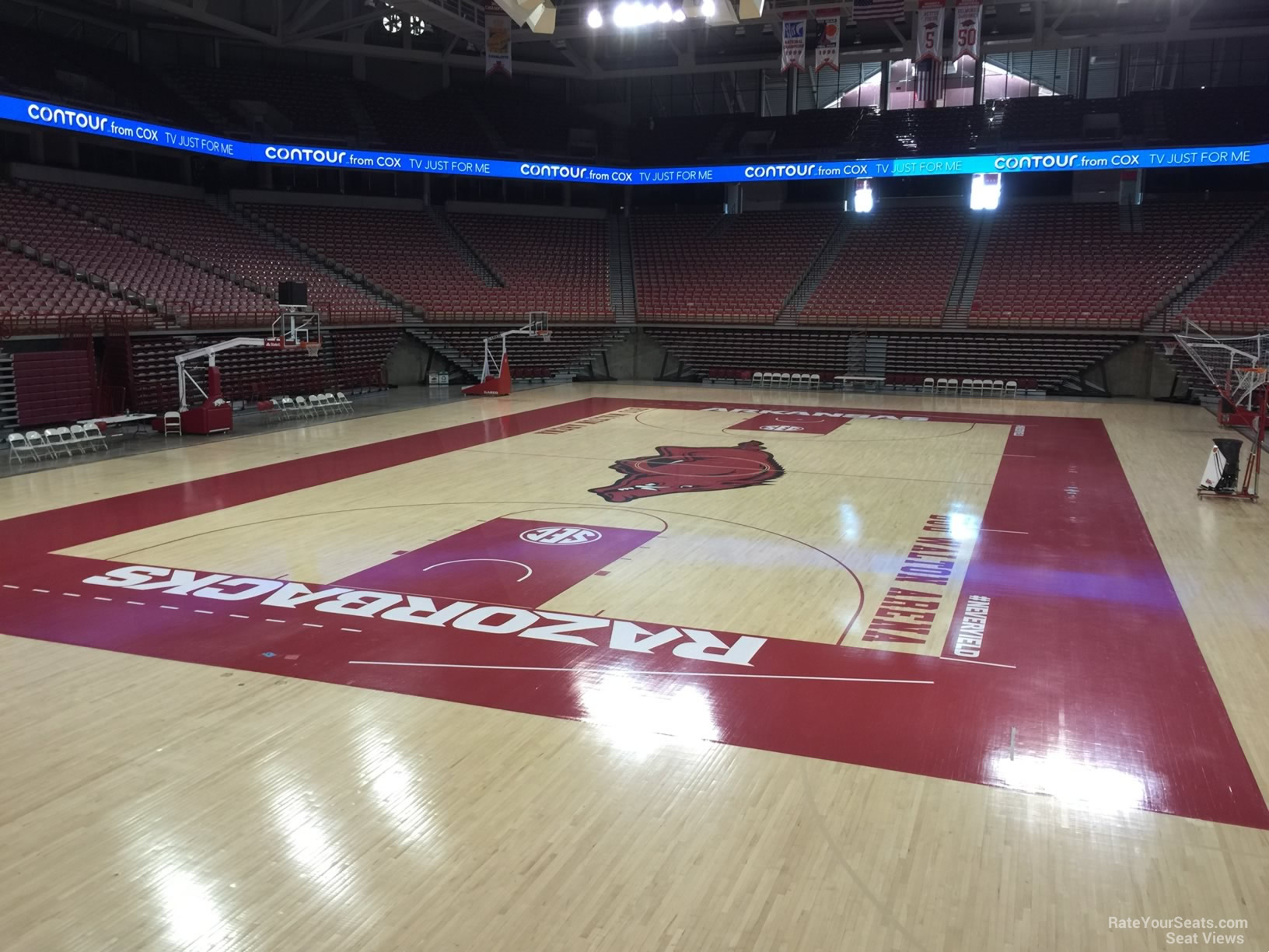 Seat View for Bud Walton Arena Section 125, Row 1