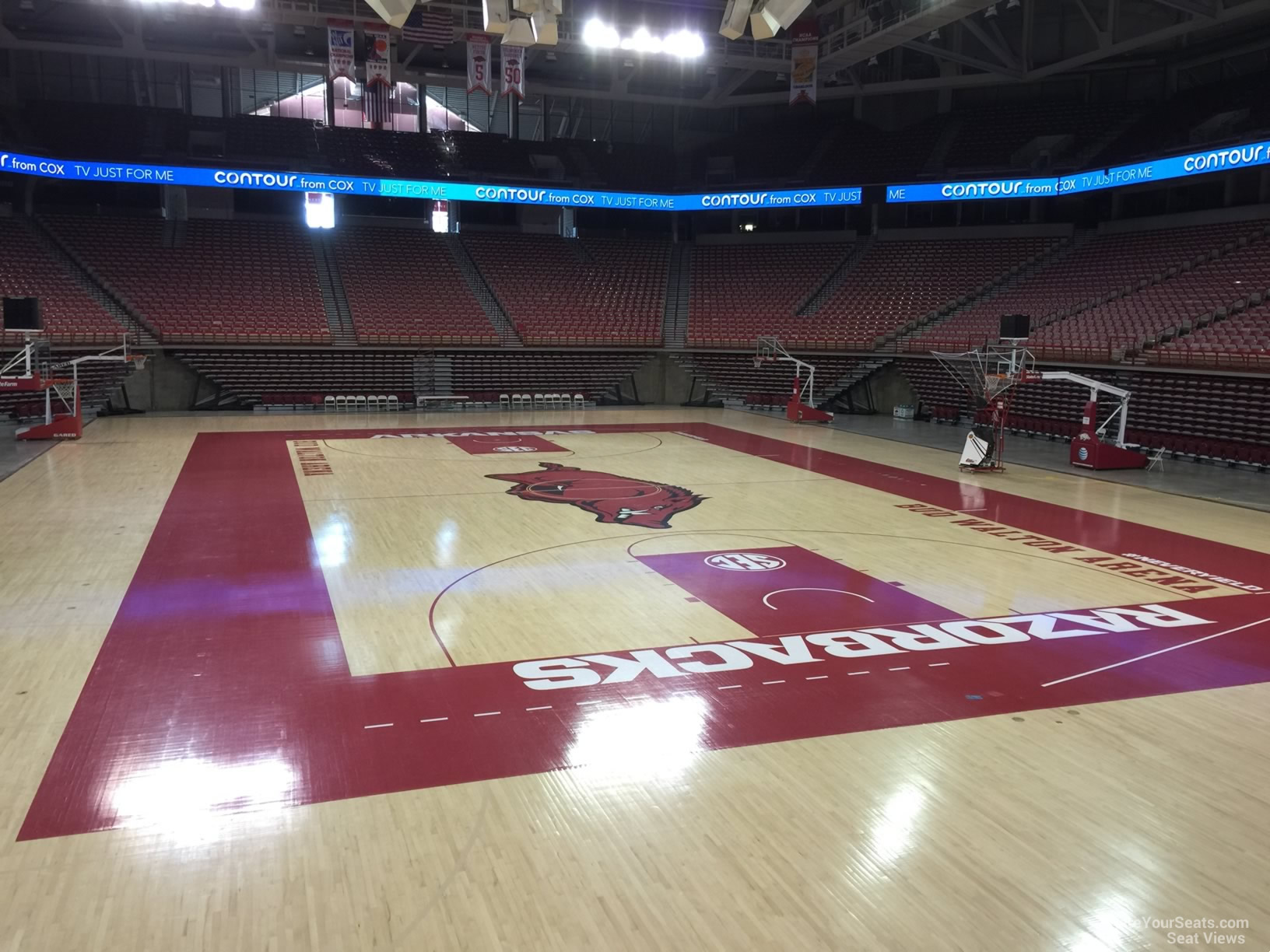 Seat View for Bud Walton Arena Section 128, Row 1