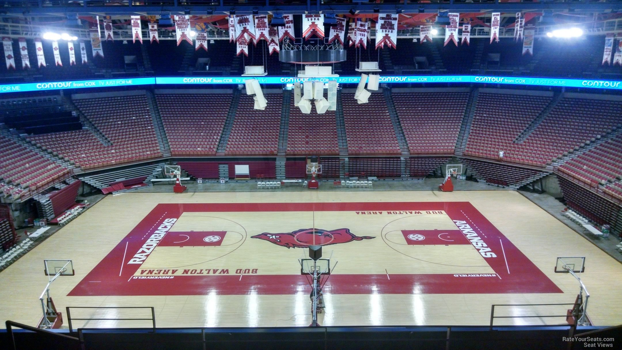 Seat View for Bud Walton Arena Section 218, Row 8